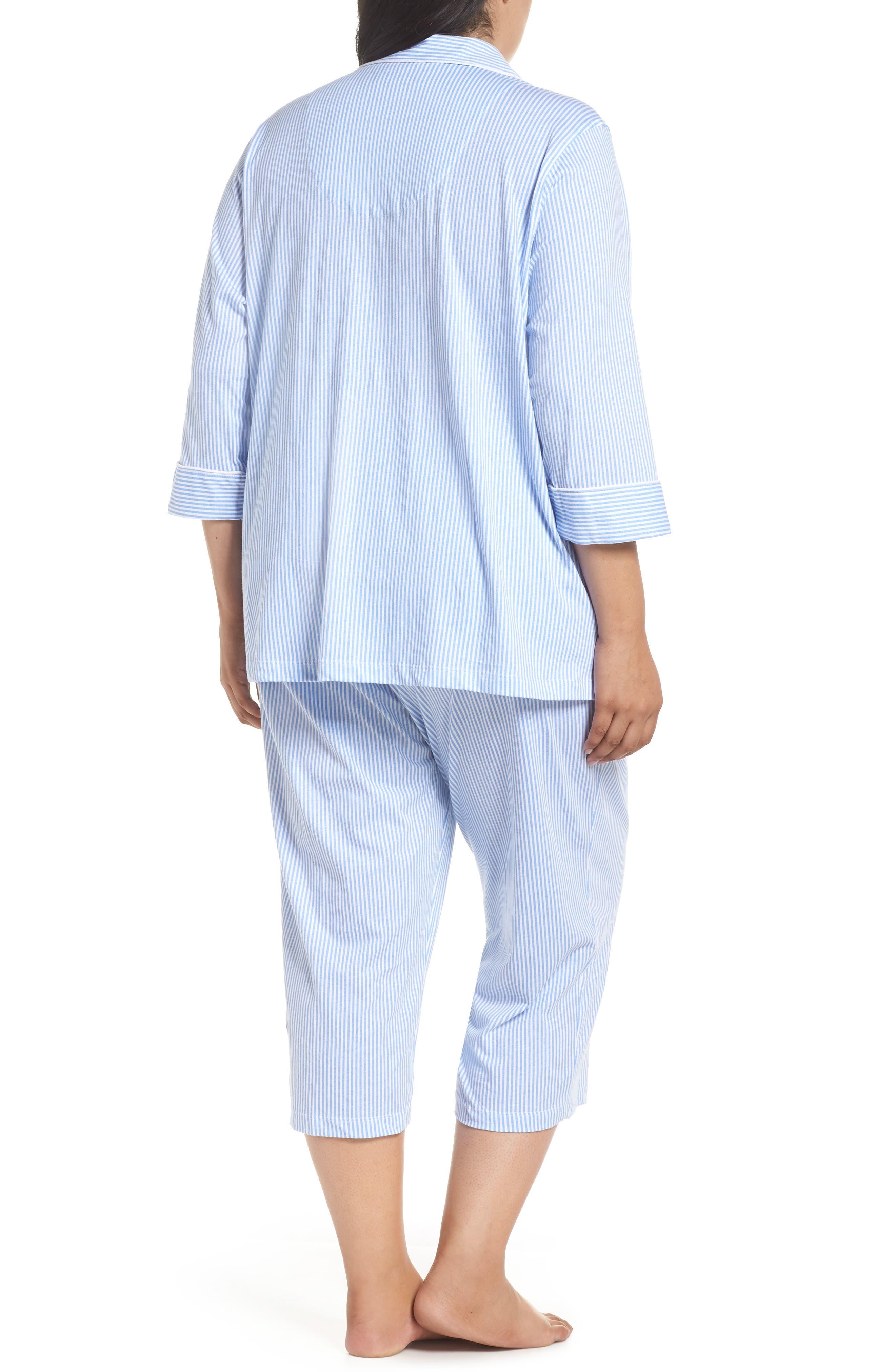Knit Crop Pajamas,                             Alternate thumbnail 8, color,