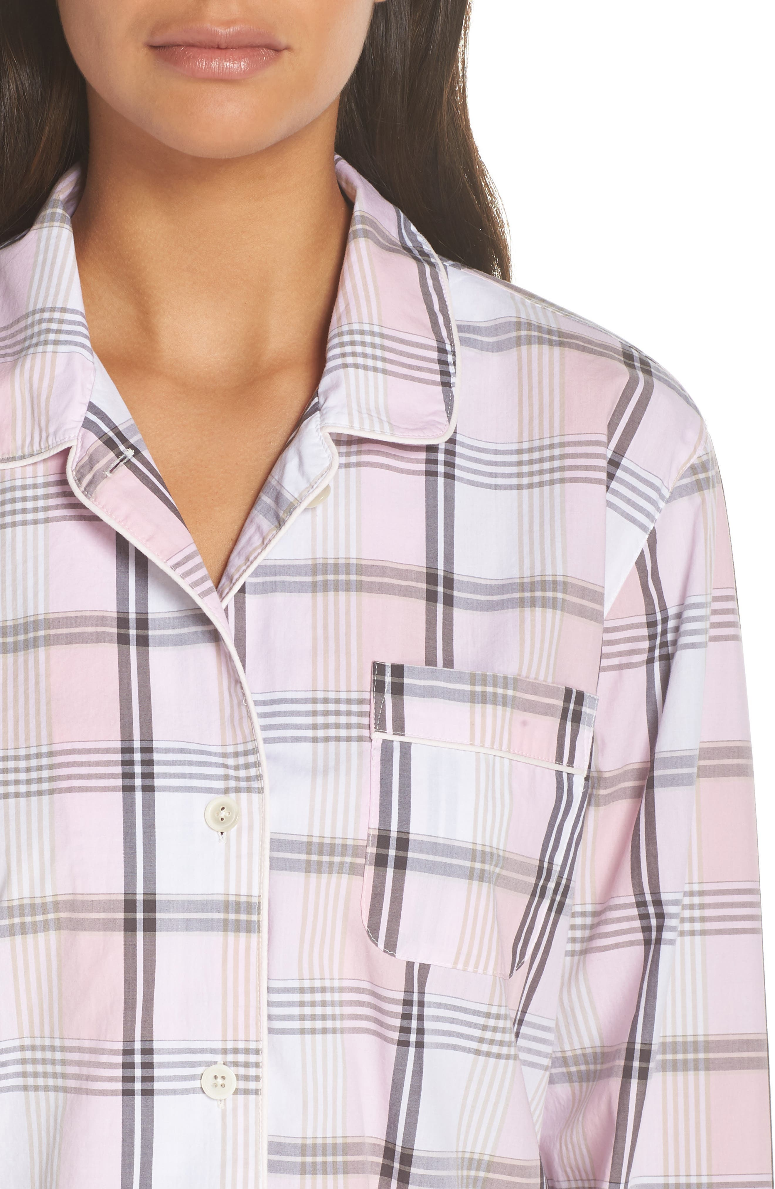 Cotton Pajamas,                             Alternate thumbnail 4, color,                             PINK COAL