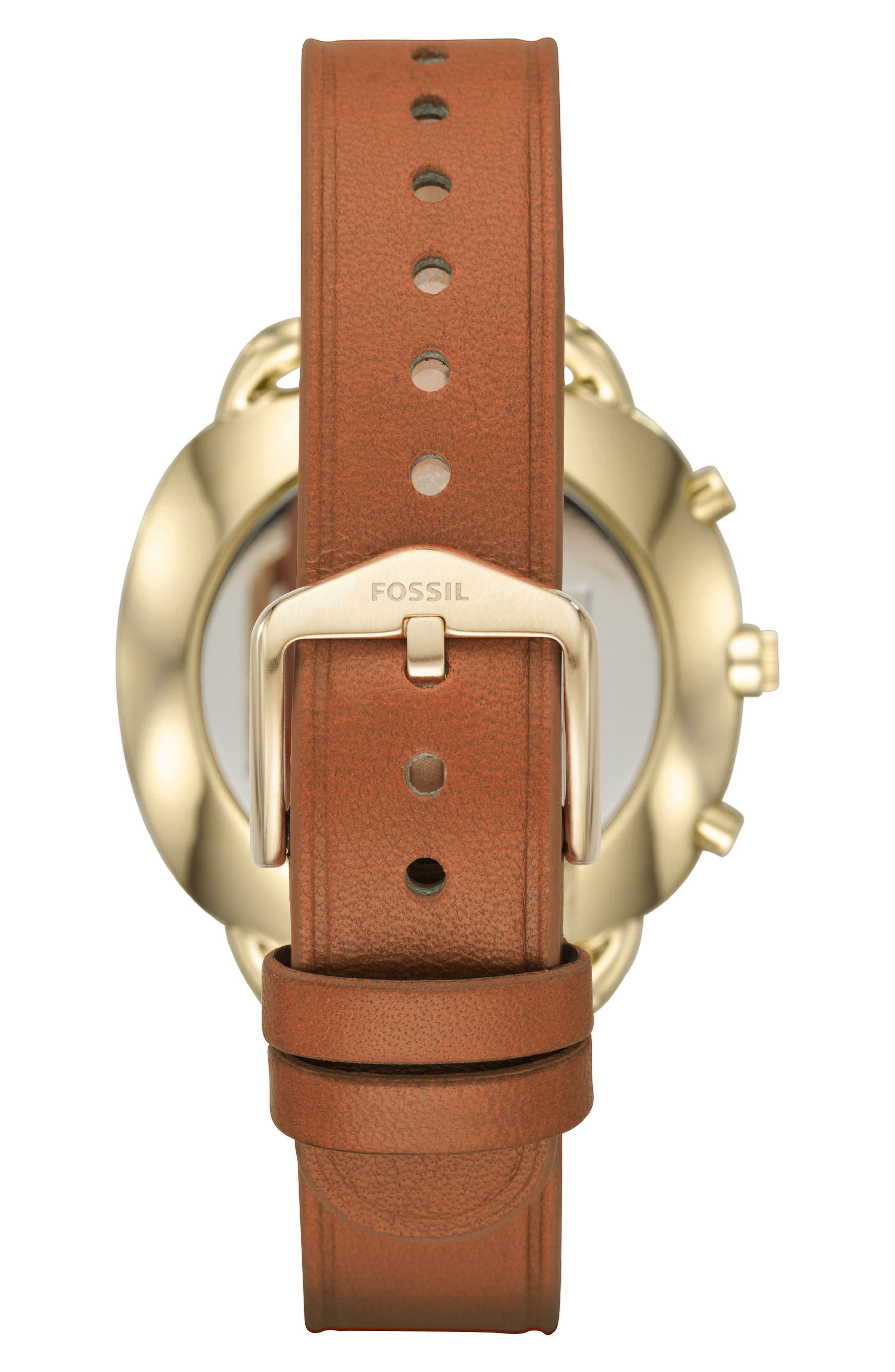 Accomplice Smart Leather Strap Watch, 38mm,                             Alternate thumbnail 3, color,