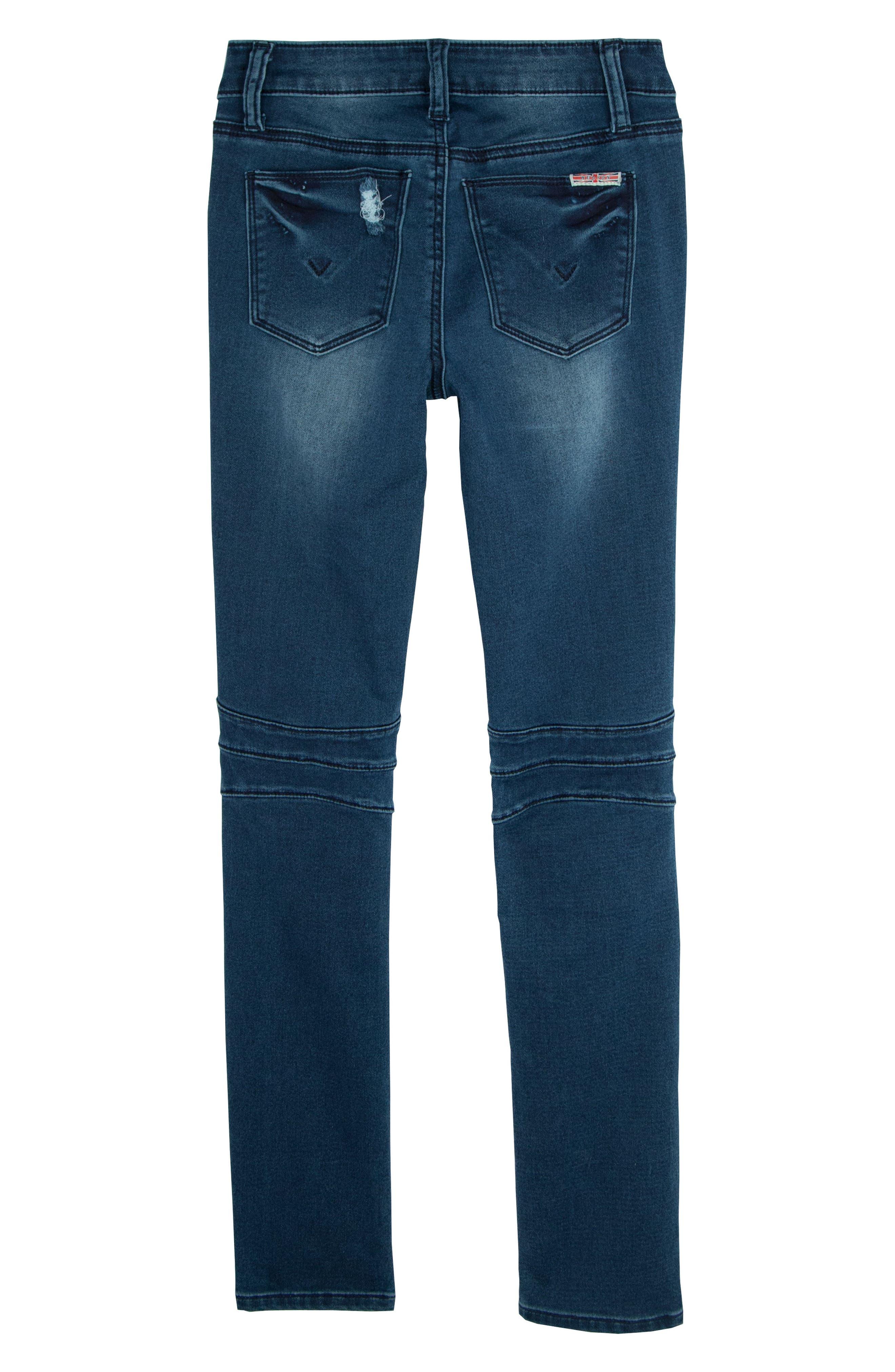 London Distressed Moto Skinny Jeans,                             Alternate thumbnail 2, color,                             403