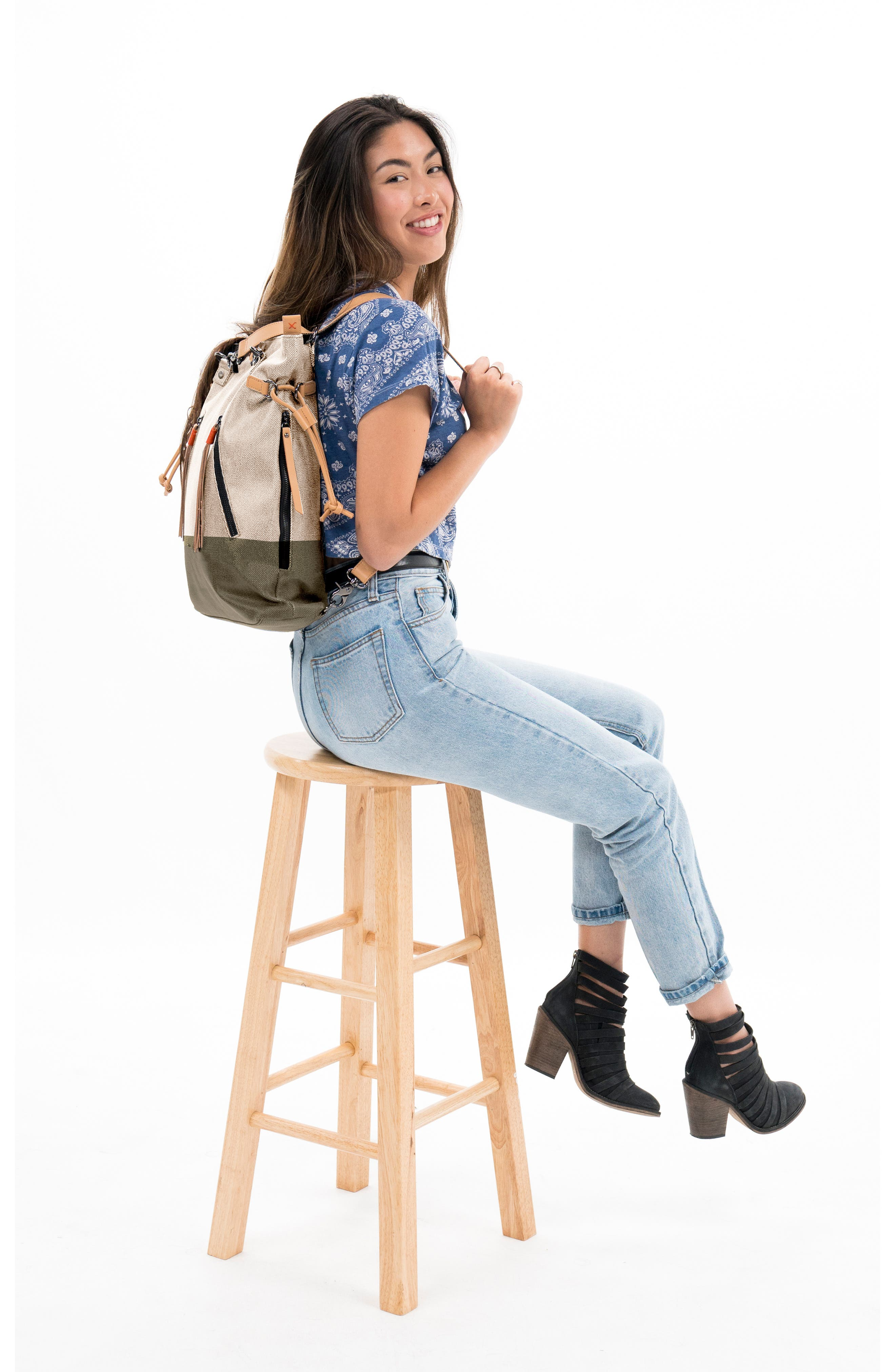 Tempest Canvas Convertible Backpack,                             Alternate thumbnail 6, color,                             901