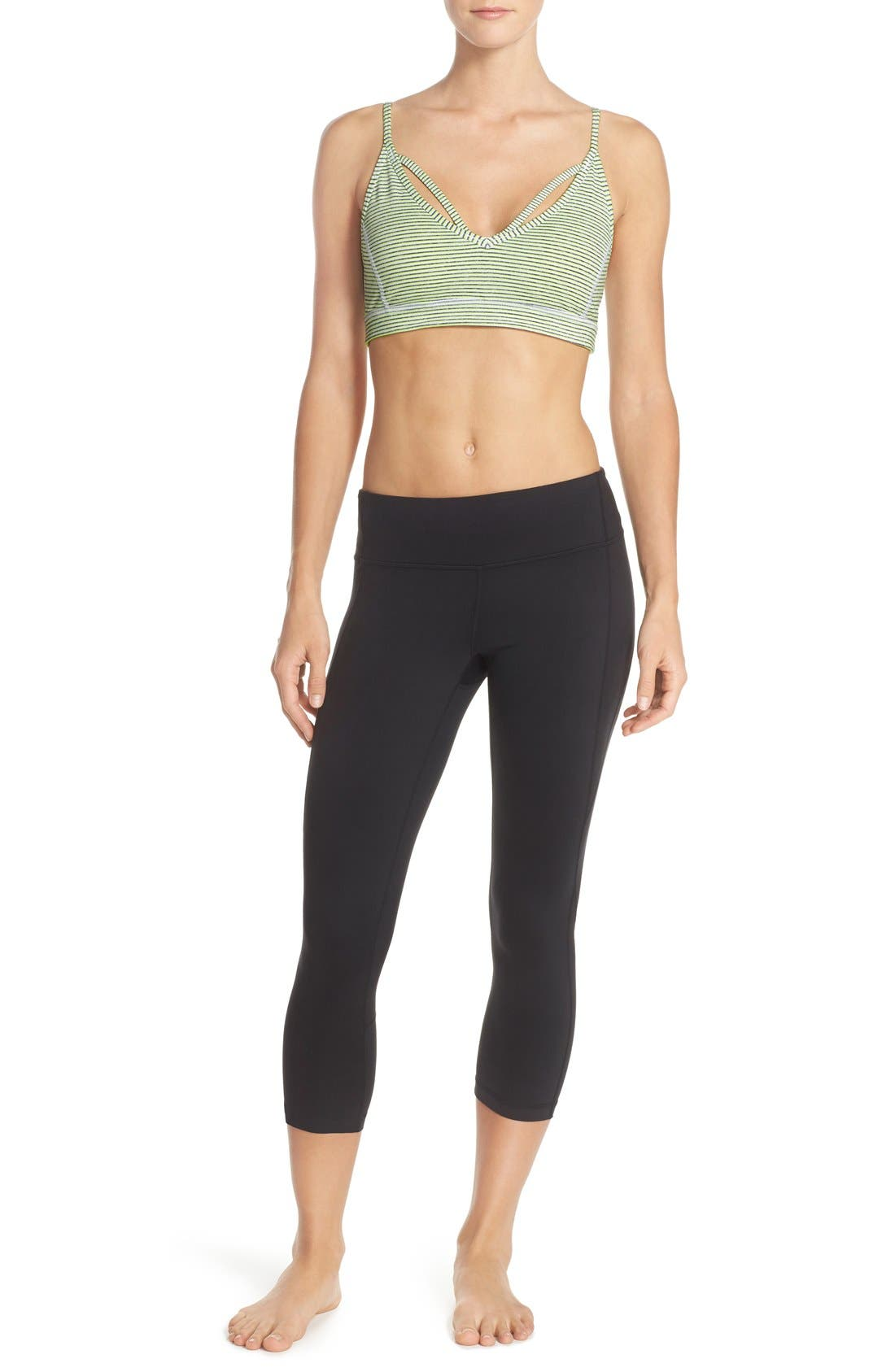Live-In Keep It Cool Crop Leggings,                             Alternate thumbnail 7, color,                             001