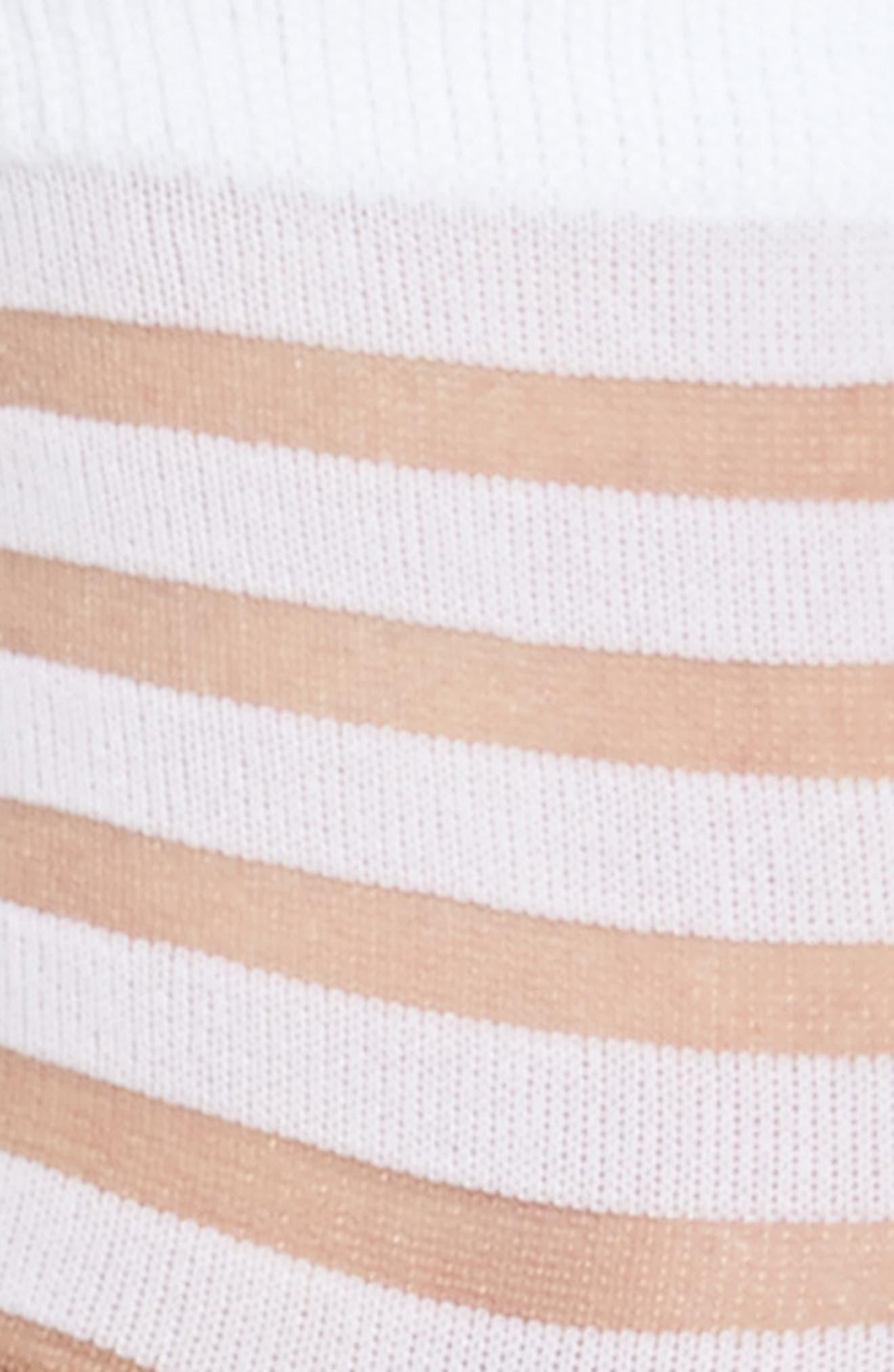 sheer stripe ankle socks,                             Alternate thumbnail 7, color,