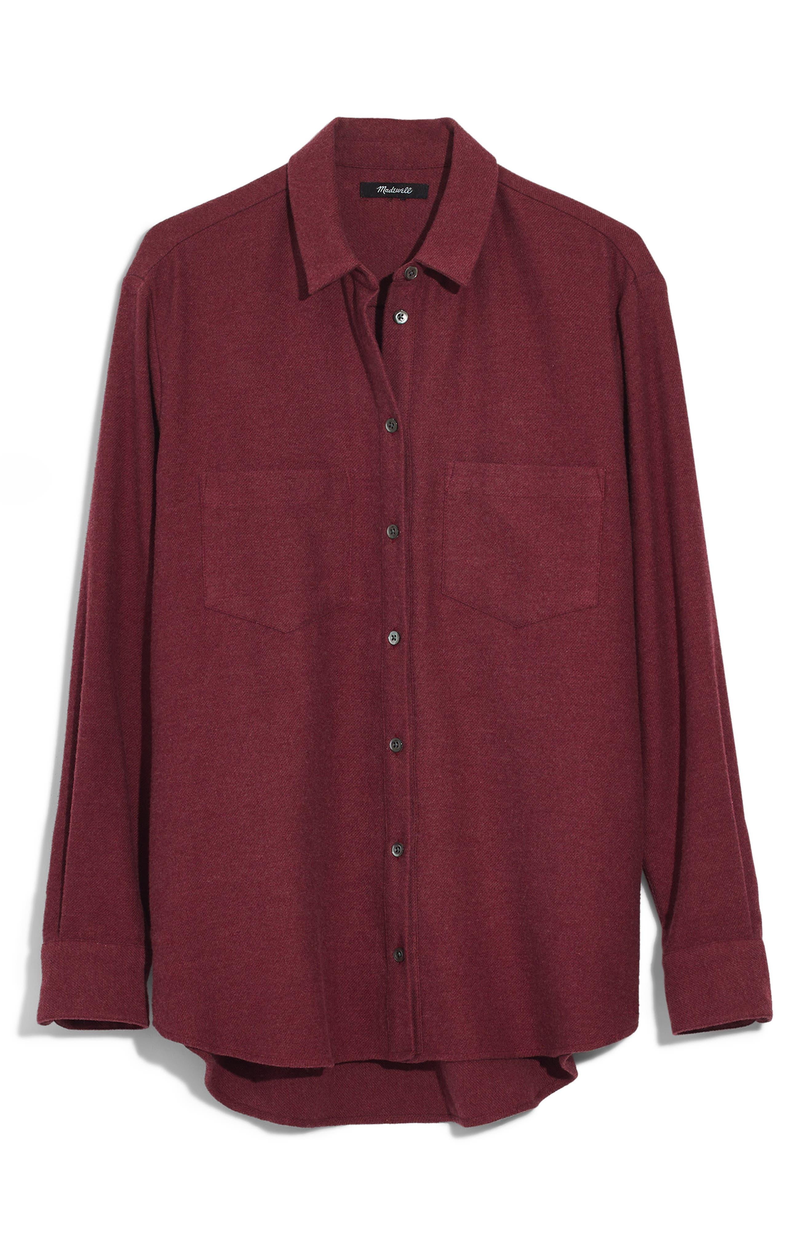MADEWELL,                             Flannel Sunday Shirt,                             Alternate thumbnail 6, color,                             600