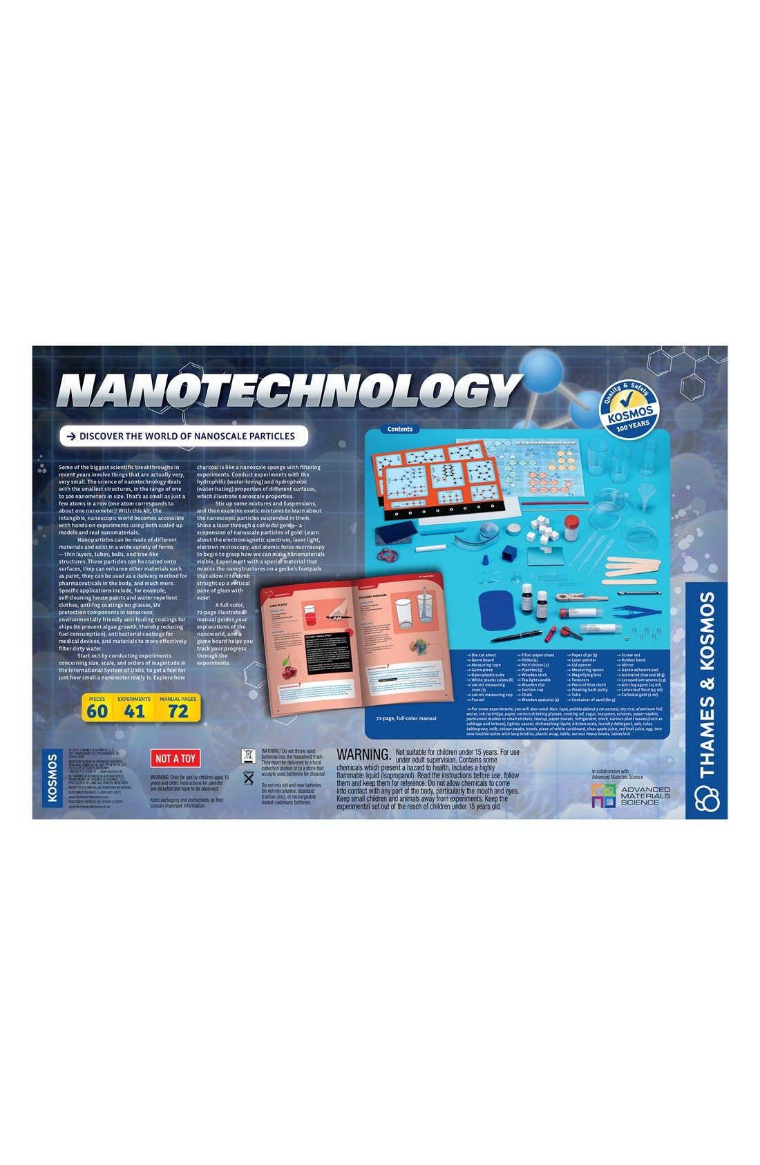 'Nanotechnology' Experiment Kit,                             Alternate thumbnail 2, color,                             BLUE