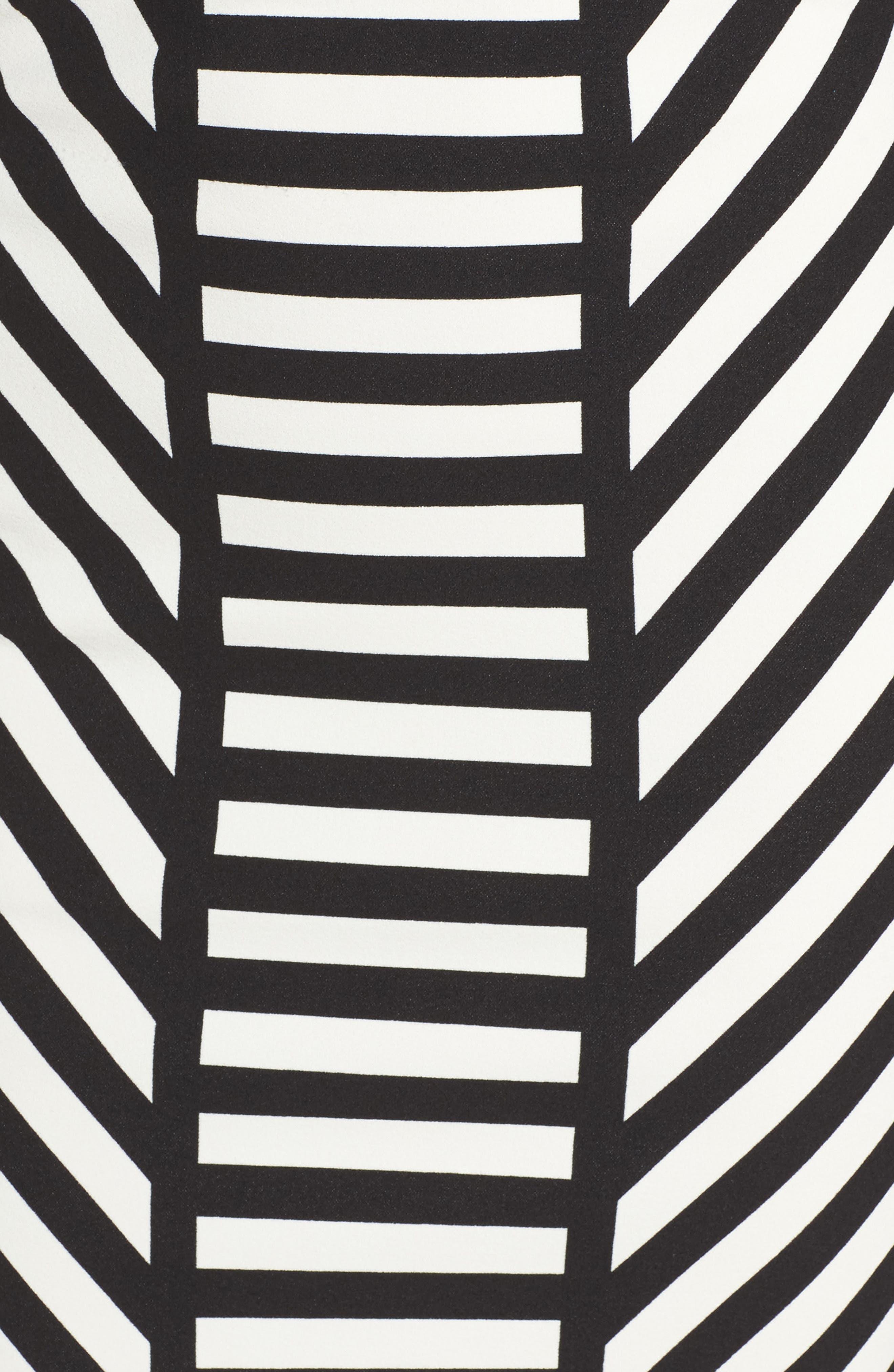 Stripe Sheath Dress,                             Alternate thumbnail 5, color,                             001