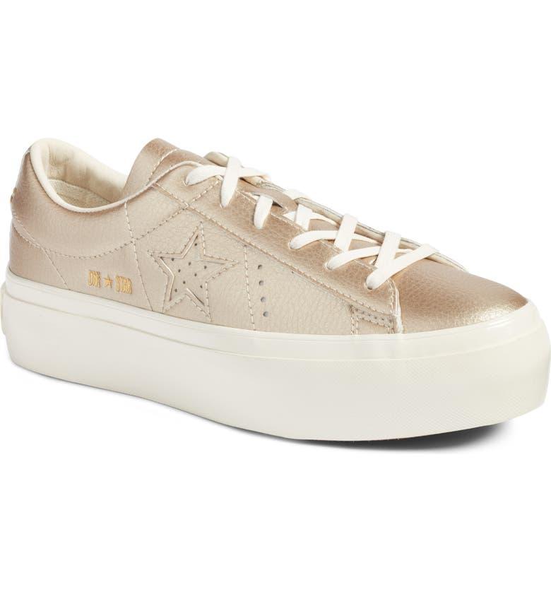 6370e3d0332 Converse Chuck Taylor® All Star® One Star Metallic Platform Sneaker ...