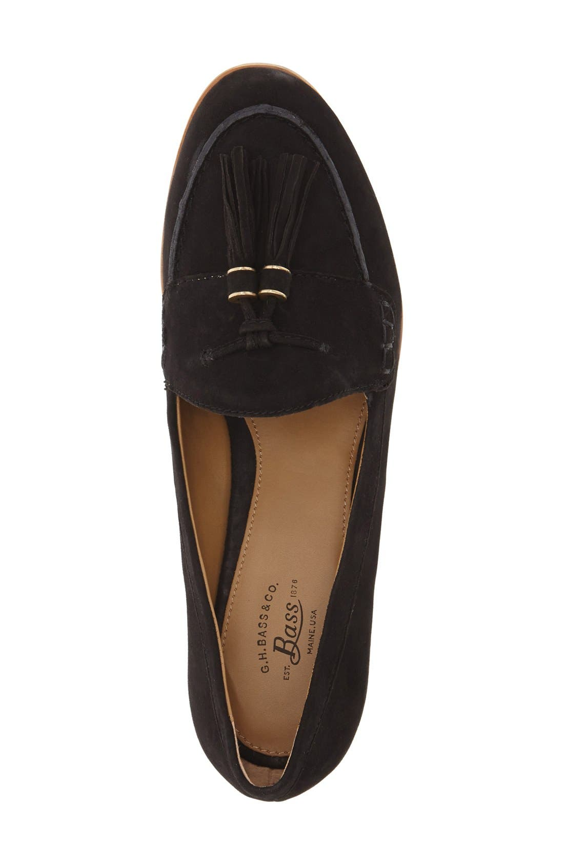 'Estelle' Tassel Loafer,                             Alternate thumbnail 2, color,                             001