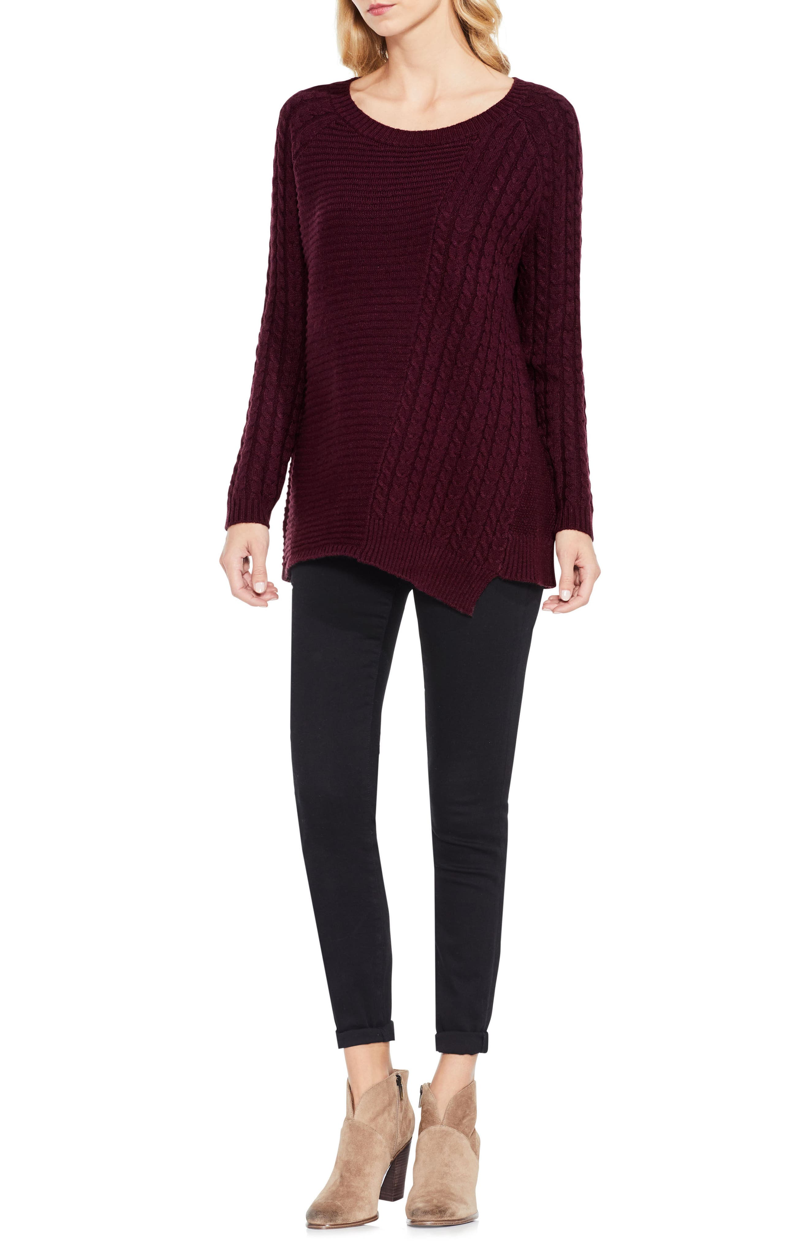 Mixed Stitch Sweater,                             Alternate thumbnail 15, color,