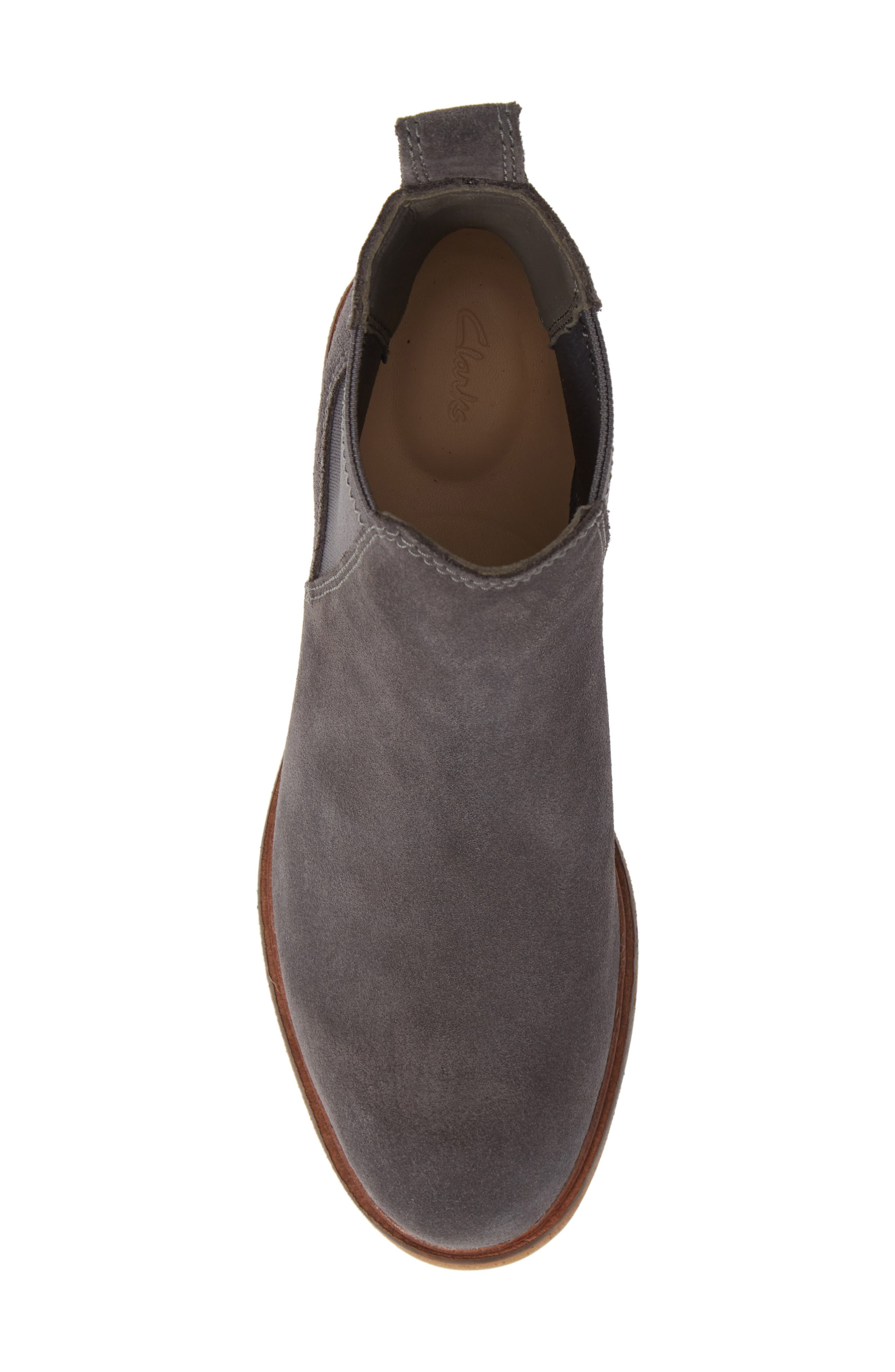Clarkdale Arlo Boot,                             Alternate thumbnail 5, color,                             GREY SUEDE