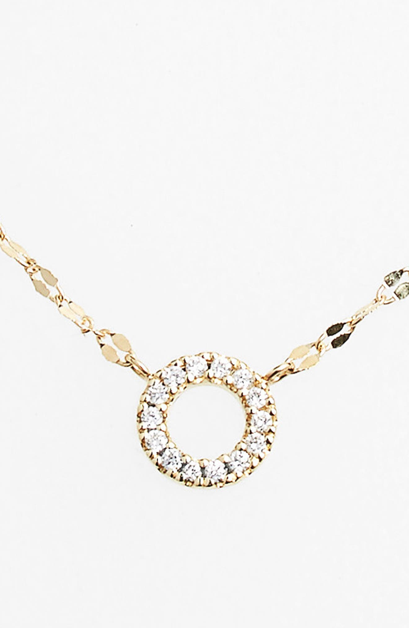 Diamond Pendant Necklace,                             Alternate thumbnail 3, color,                             DIAMOND CIRCLE