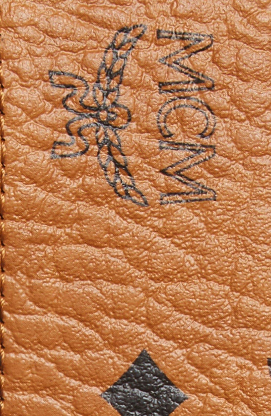 Cobalt Leather Belt,                             Alternate thumbnail 4, color,