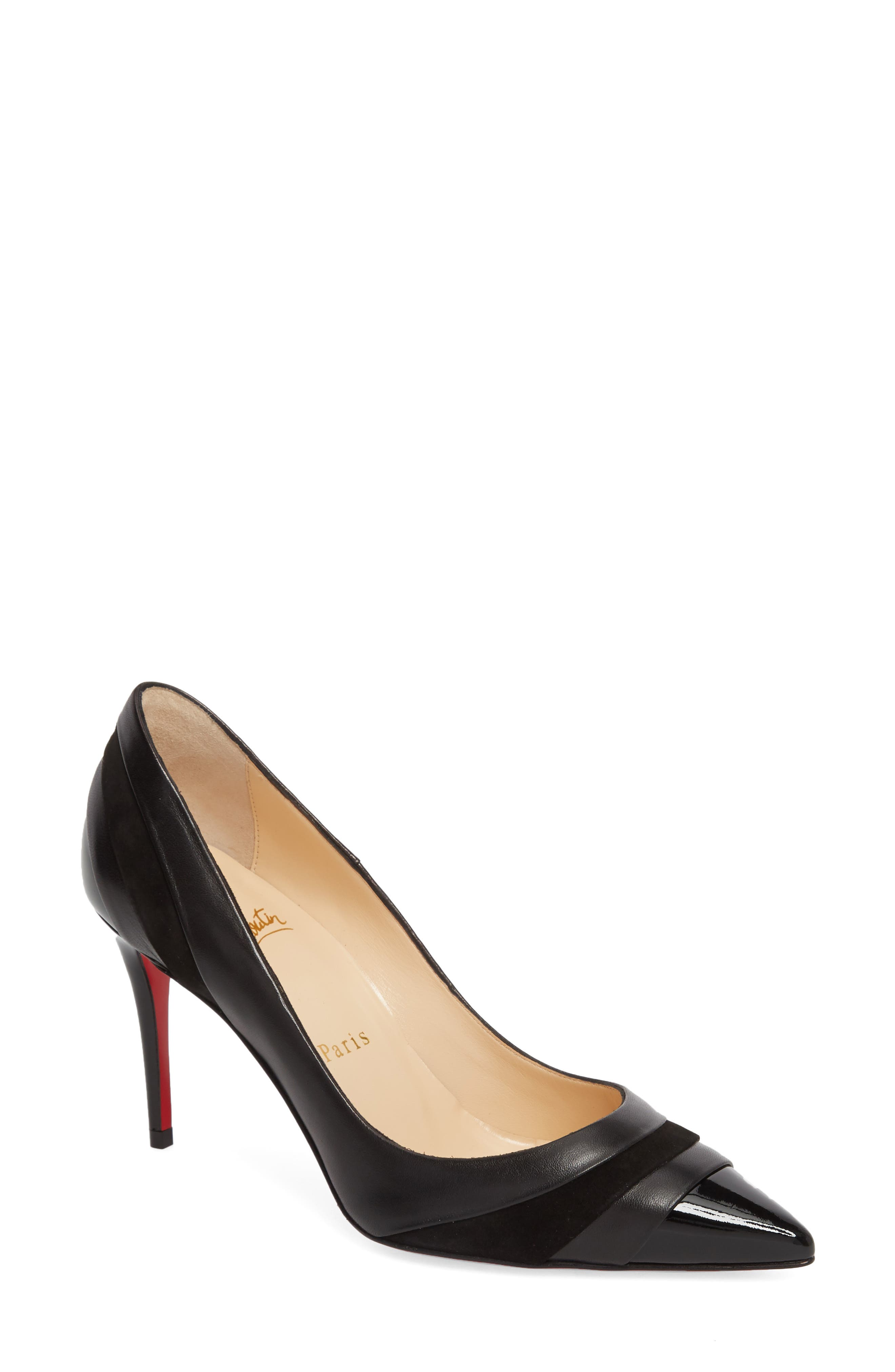 Eklectica Pointy Toe Pump,                         Main,                         color, BLACK