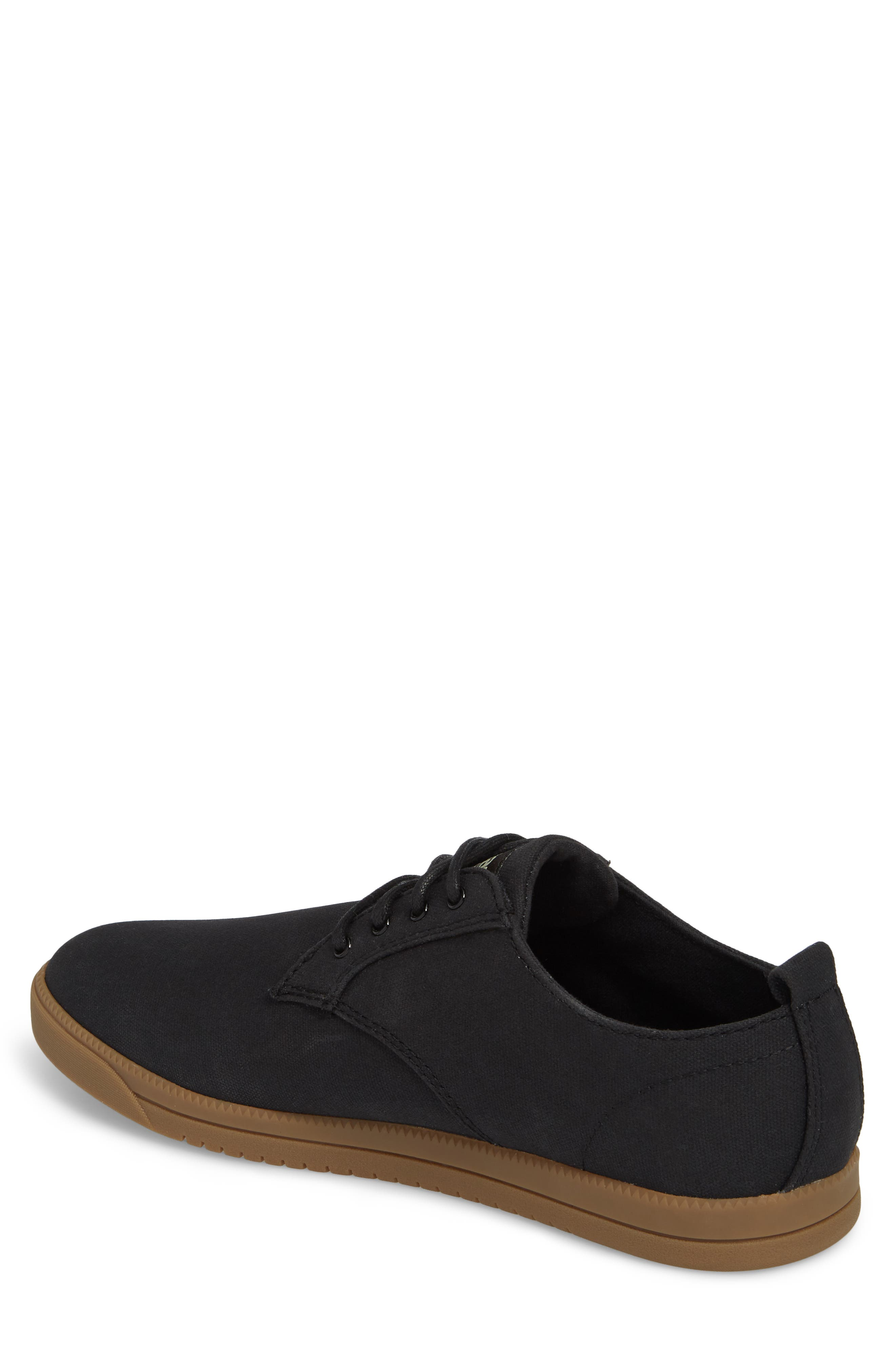 CLAE,                             Ellington Sneaker,                             Alternate thumbnail 2, color,                             BLACK WAXED CANVAS