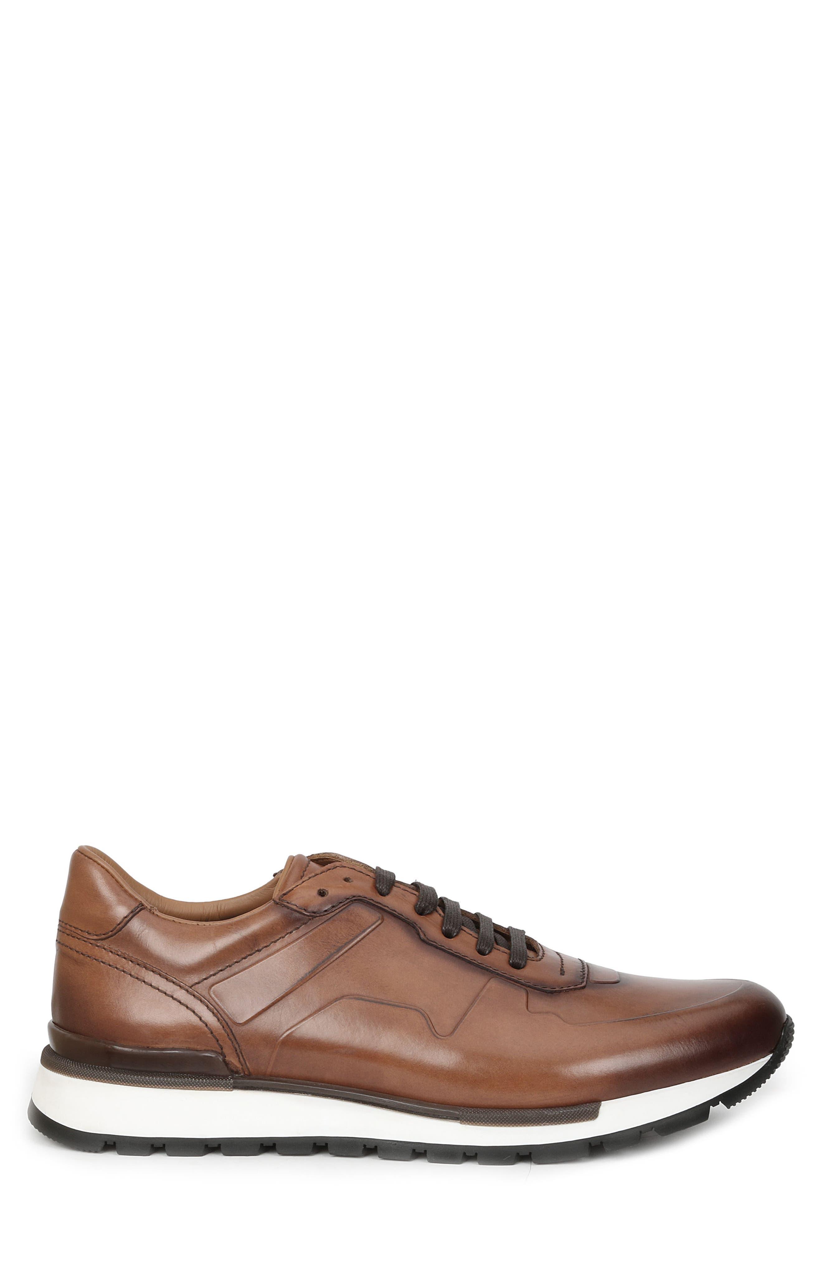 Davio Low Top Sneaker,                             Alternate thumbnail 3, color,                             COGNAC