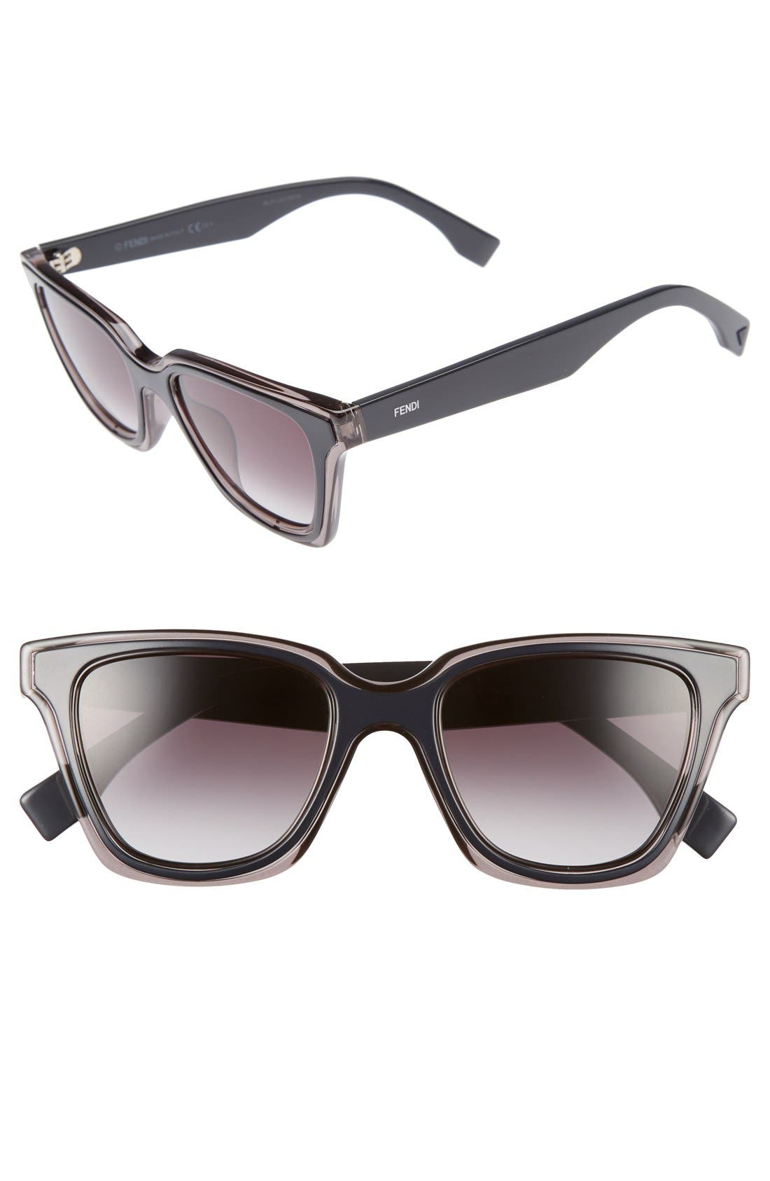 Be You 50mm Gradient Sunglasses,                         Main,                         color, 020