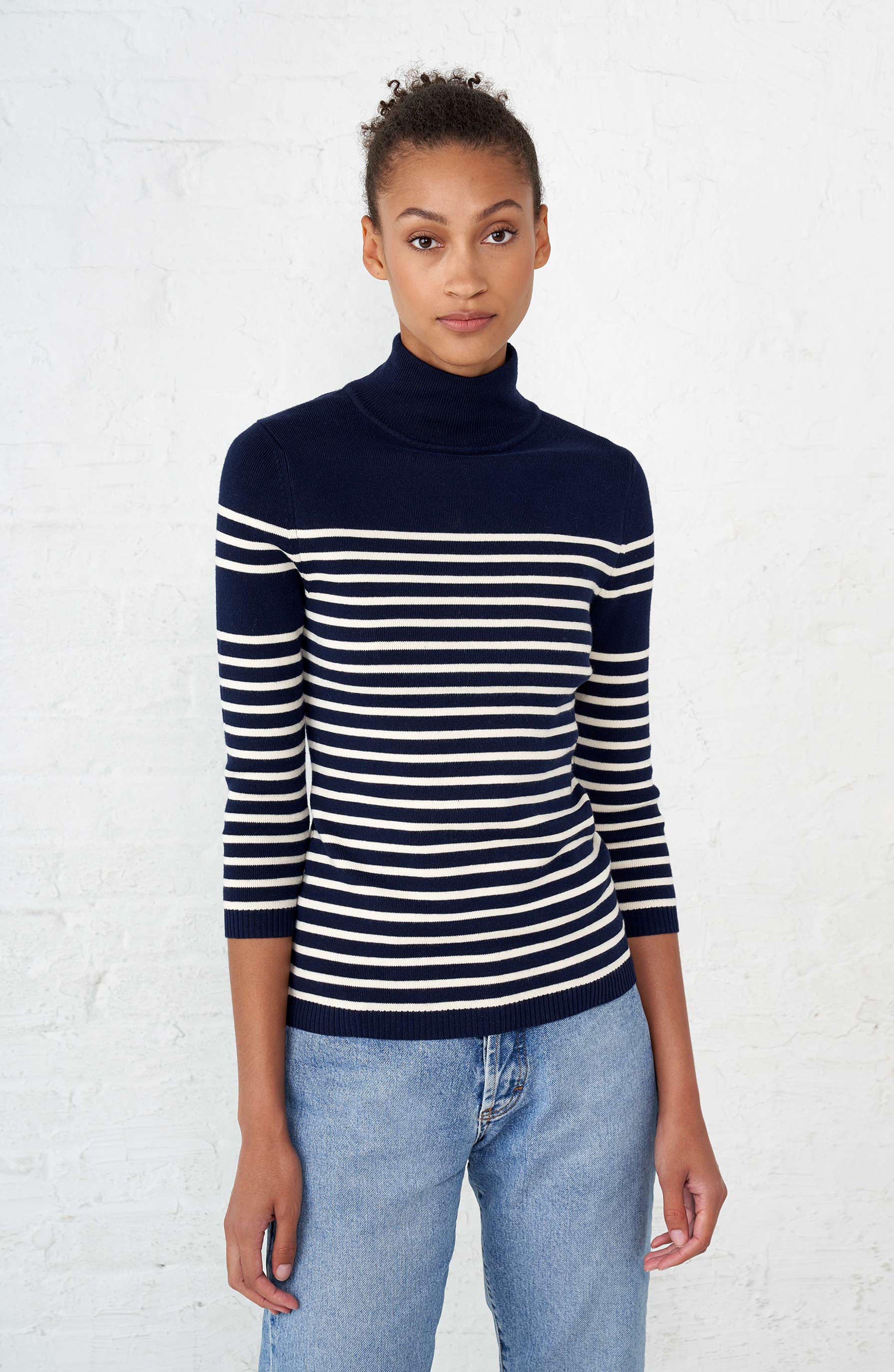 Classique Stripe Sweater,                             Alternate thumbnail 7, color,                             401