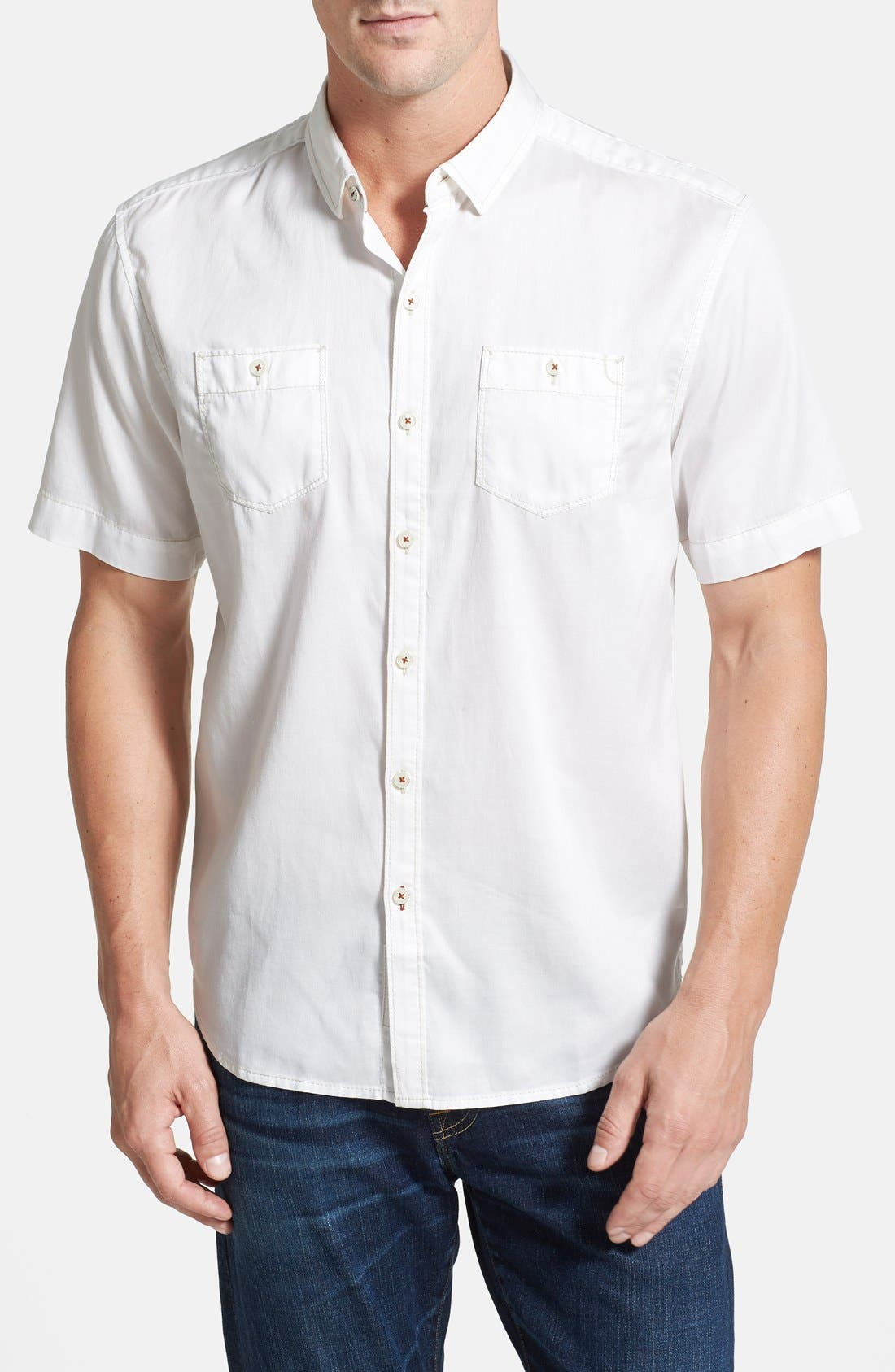 'New Twilly' Island Modern Fit Short Sleeve Twill Shirt,                             Main thumbnail 3, color,