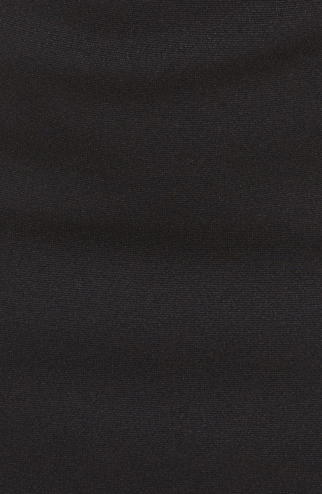 Micro Ottoman Lace-Up Sheath Dress,                             Alternate thumbnail 5, color,                             001