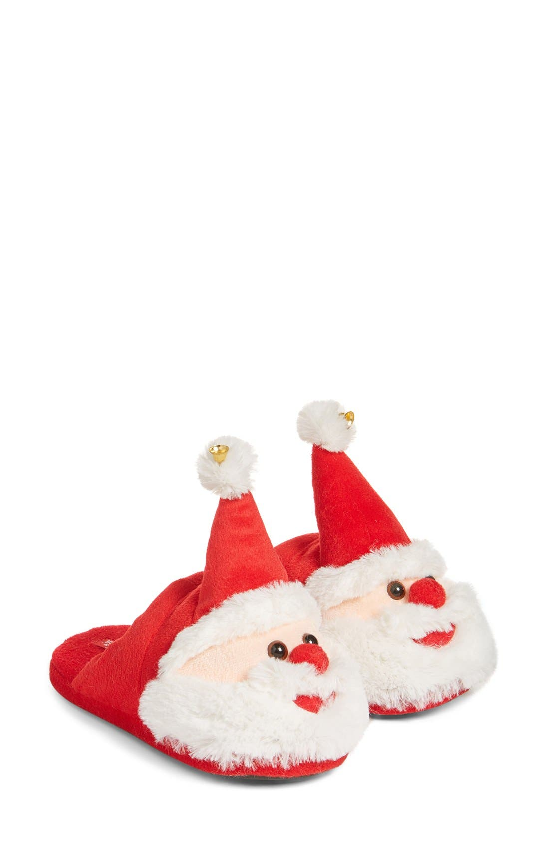 UGLY CHRISTMAS SLIPPERS Santa Scuff Slippers, Main, color, 600