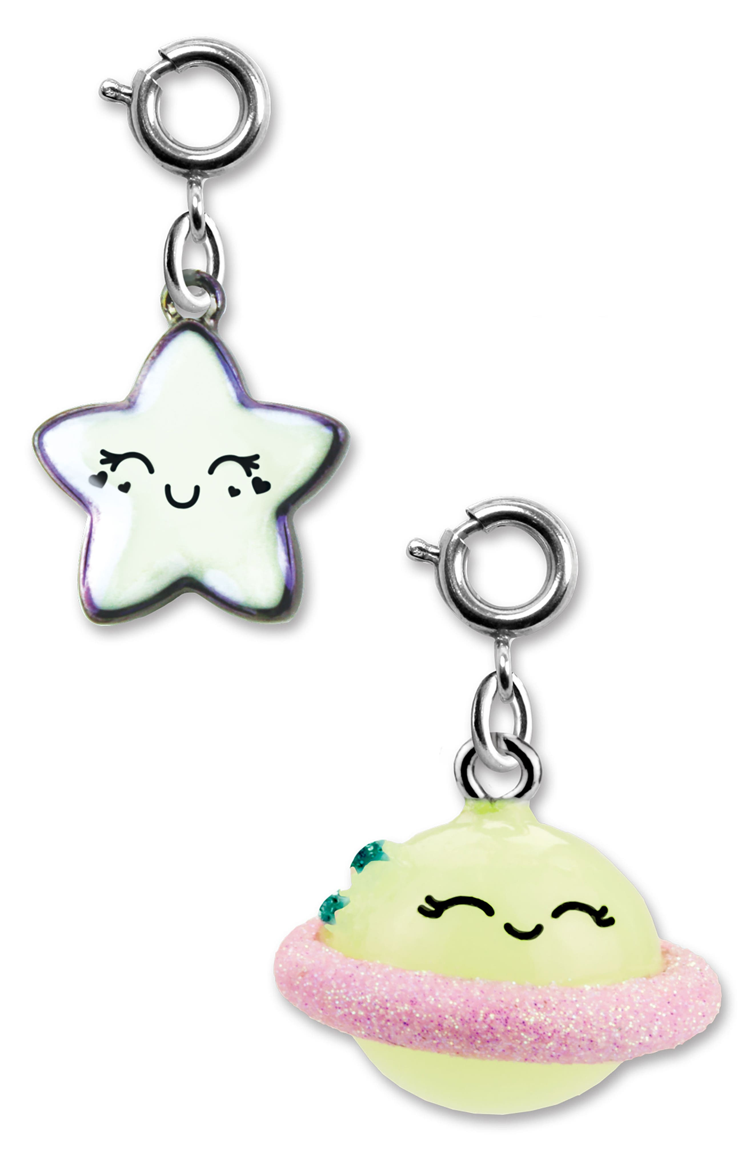 CHARM IT!<sup>®</sup> 2-Pack Star & Saturn Charms,                             Main thumbnail 1, color,                             MULTI