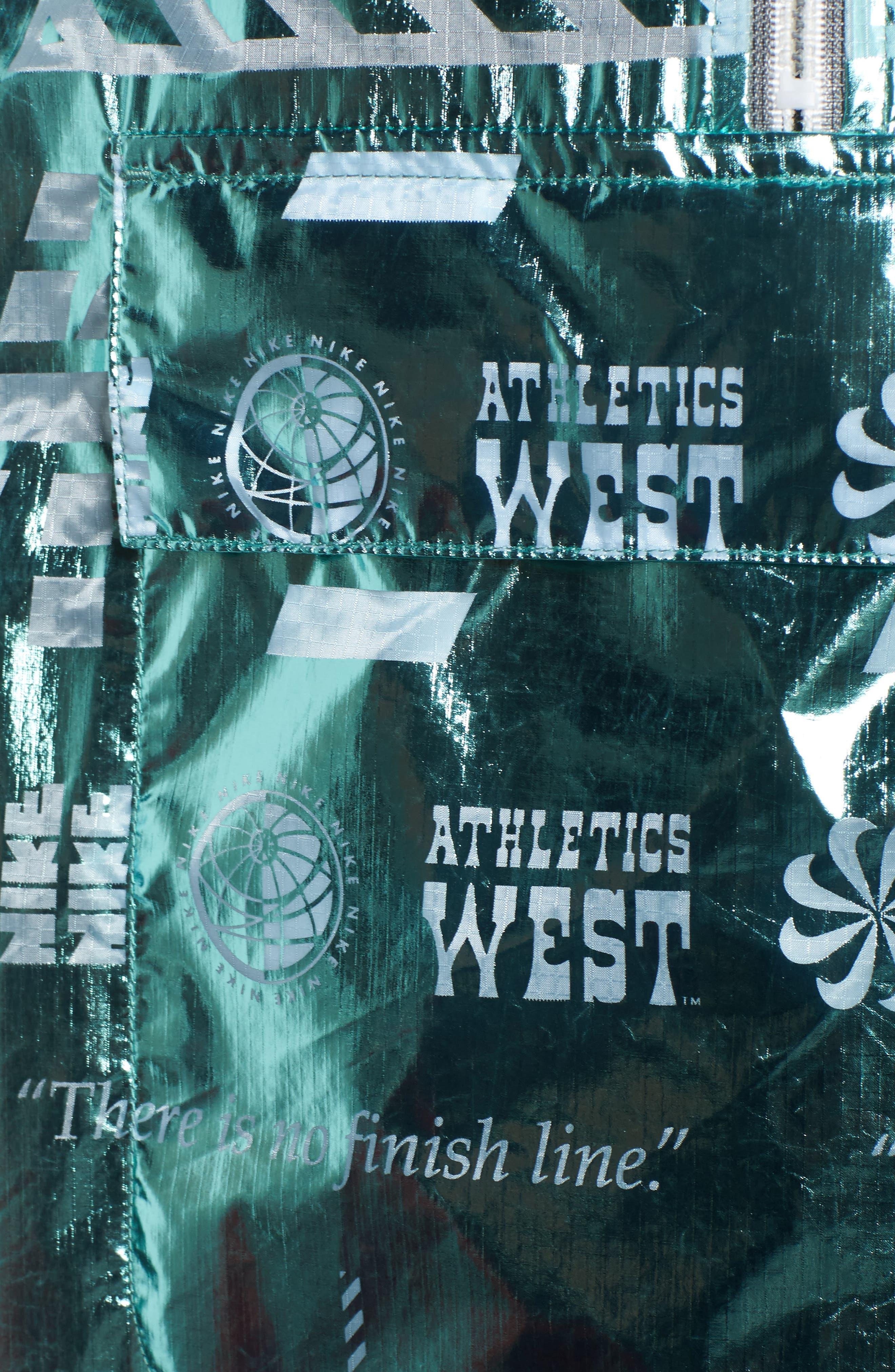 Sportswear Metallic Half Zip Jacket,                             Alternate thumbnail 17, color,