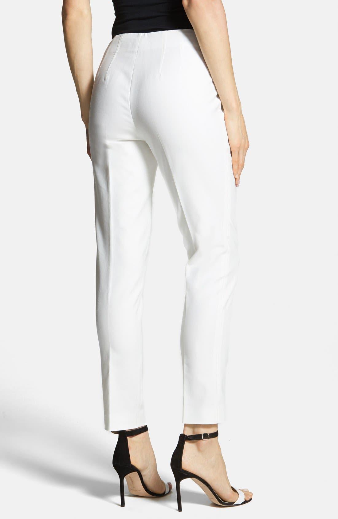 Side Zip Double Weave Pants,                             Alternate thumbnail 39, color,