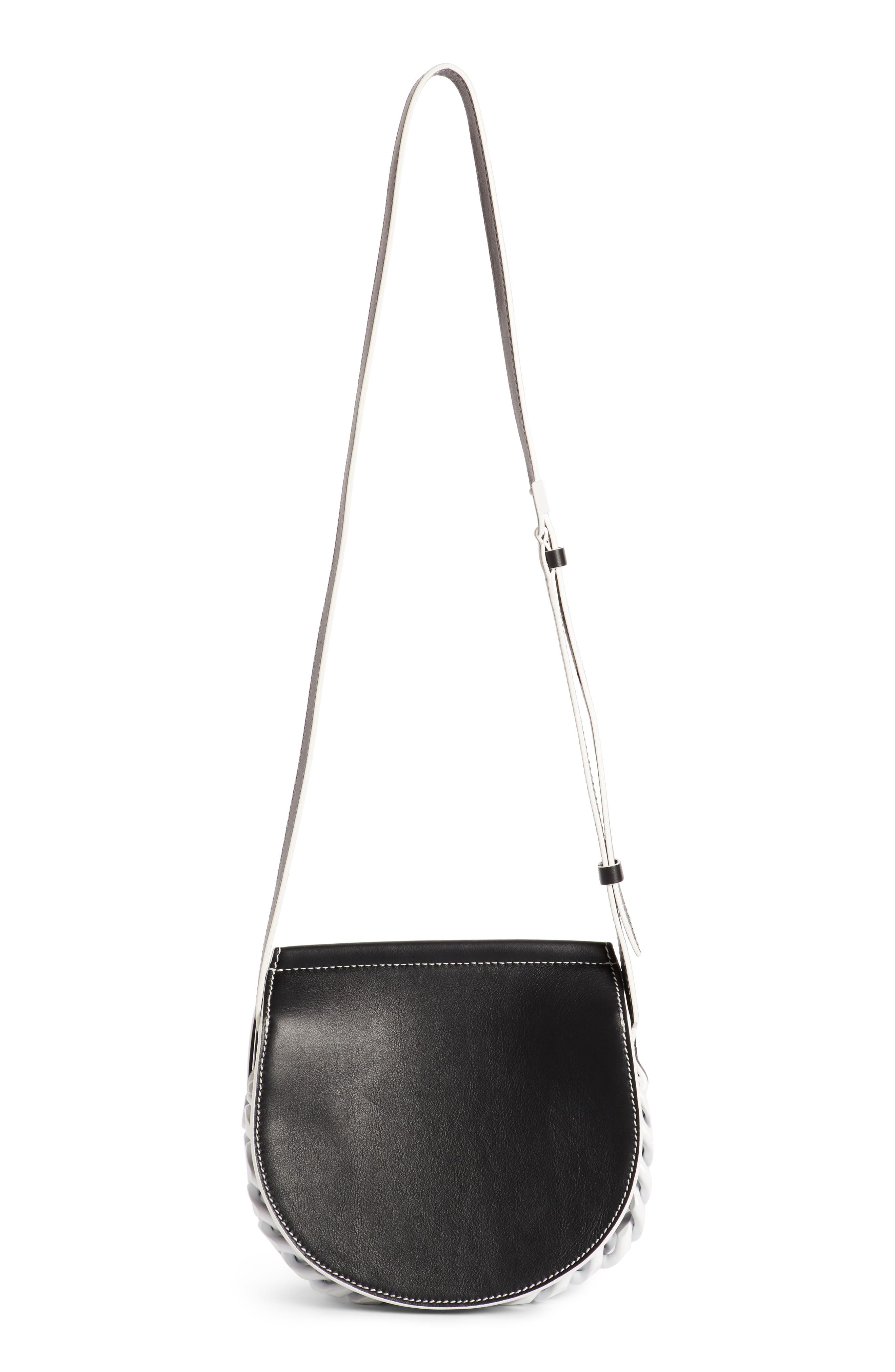 Mini Infinity Calfskin Saddle Bag,                             Alternate thumbnail 2, color,                             004