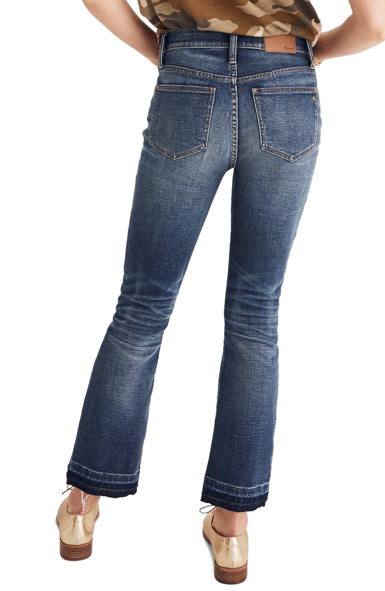 Cali Patch Pocket High Waist Demi Boot Jeans,                             Alternate thumbnail 2, color,                             DERMOTT