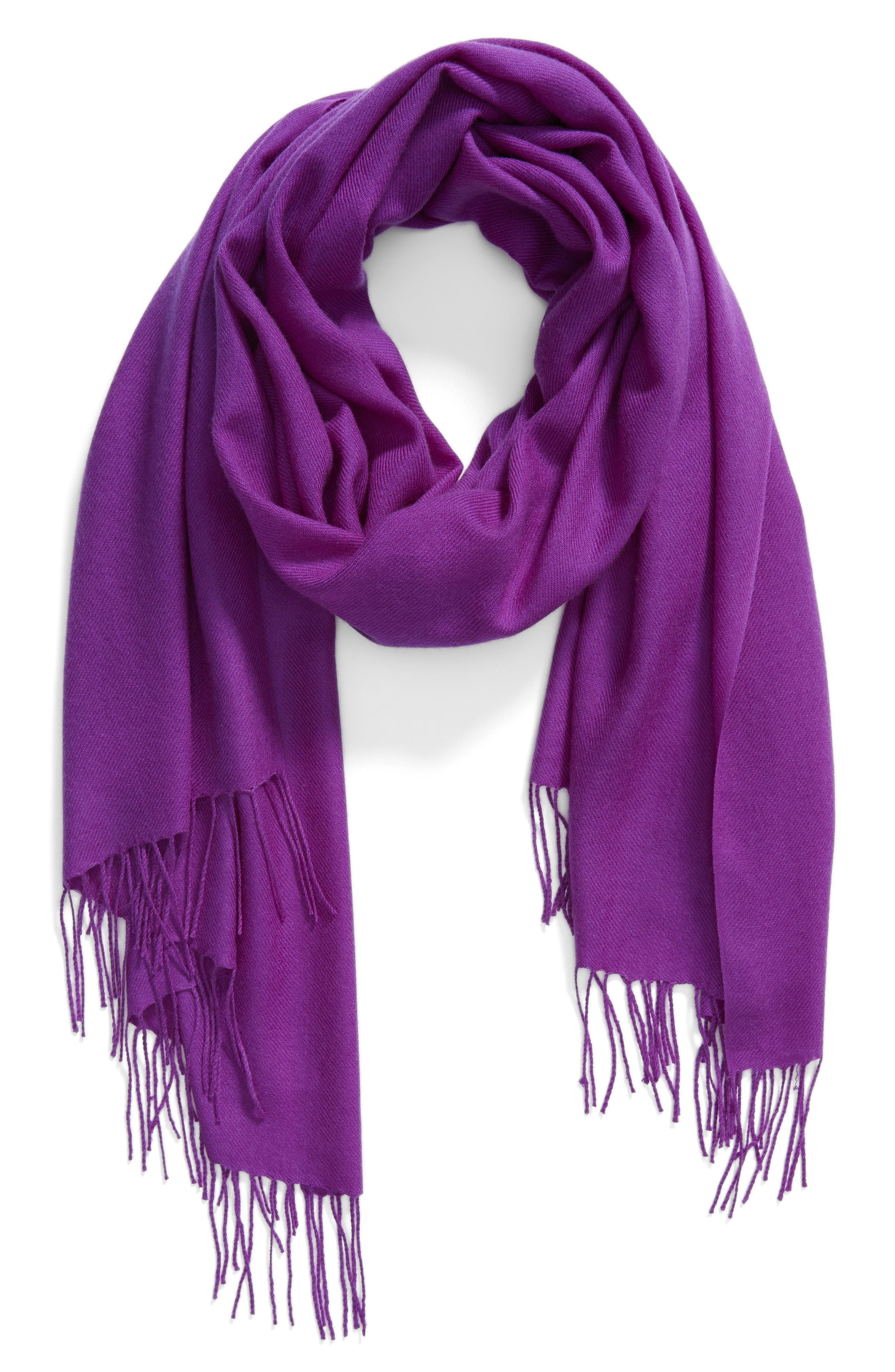 Tissue Weight Wool & Cashmere Scarf,                             Alternate thumbnail 121, color,