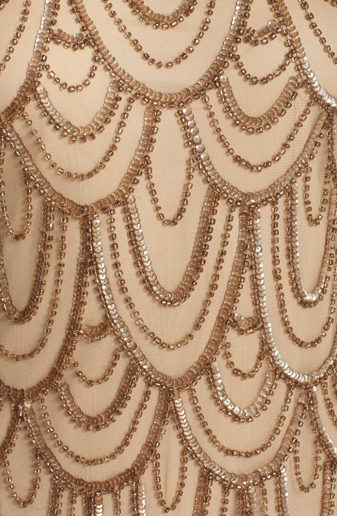 Embellished Mesh Sheath Dress,                             Alternate thumbnail 112, color,