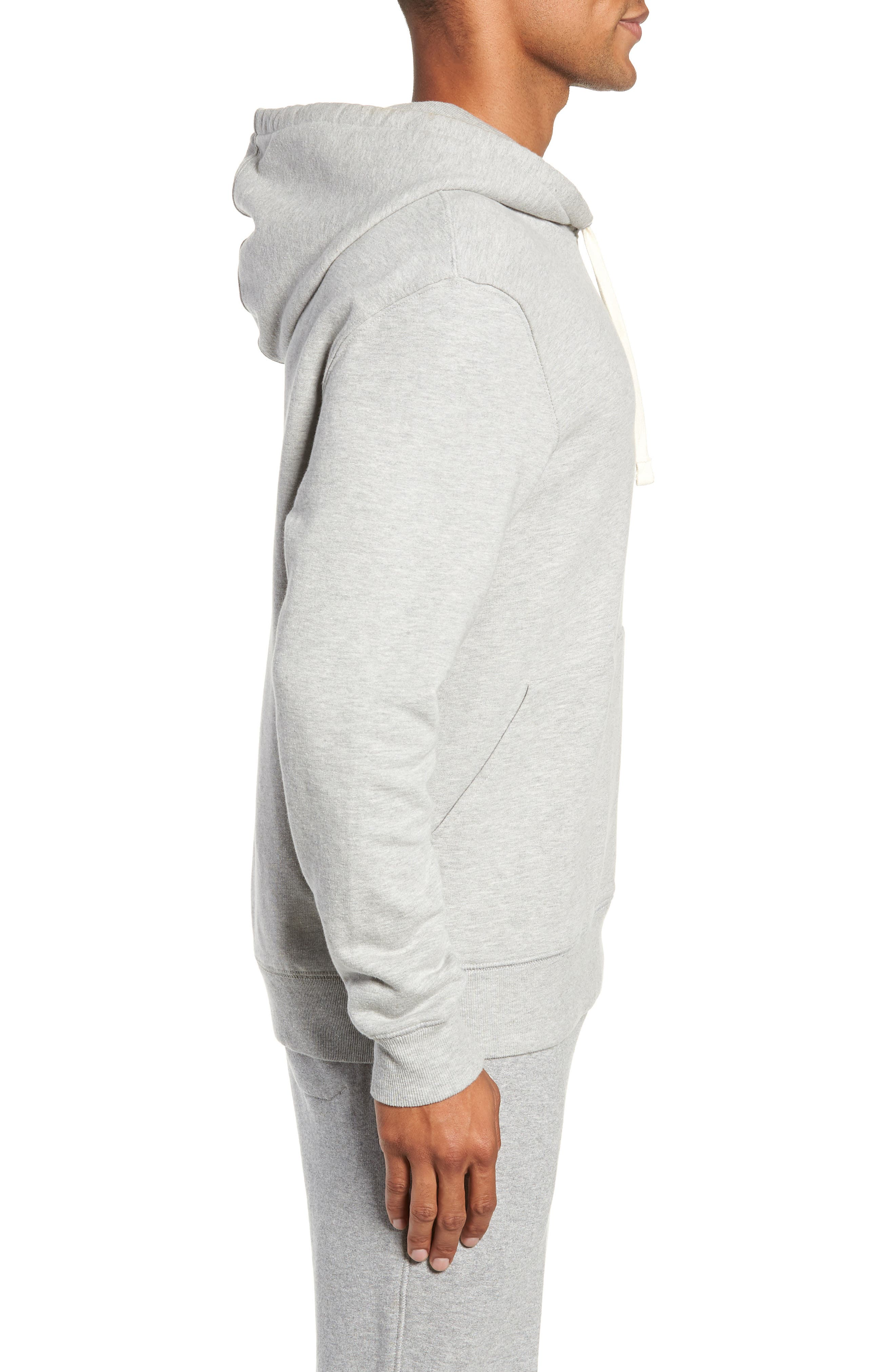 Hoodie,                             Alternate thumbnail 3, color,                             HEATHER GREY