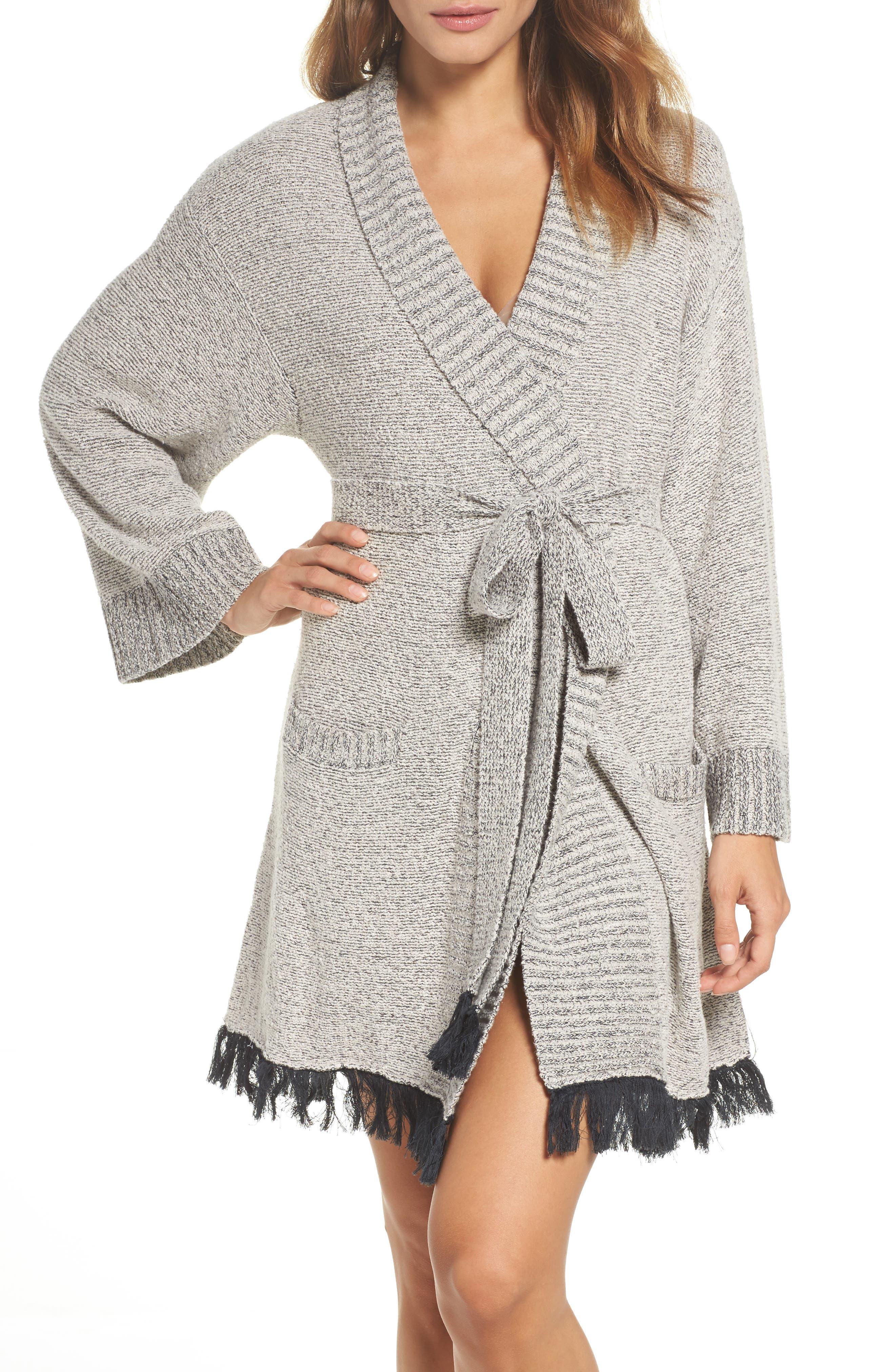 Cozy Bouclé Short Robe,                             Main thumbnail 1, color,                             900