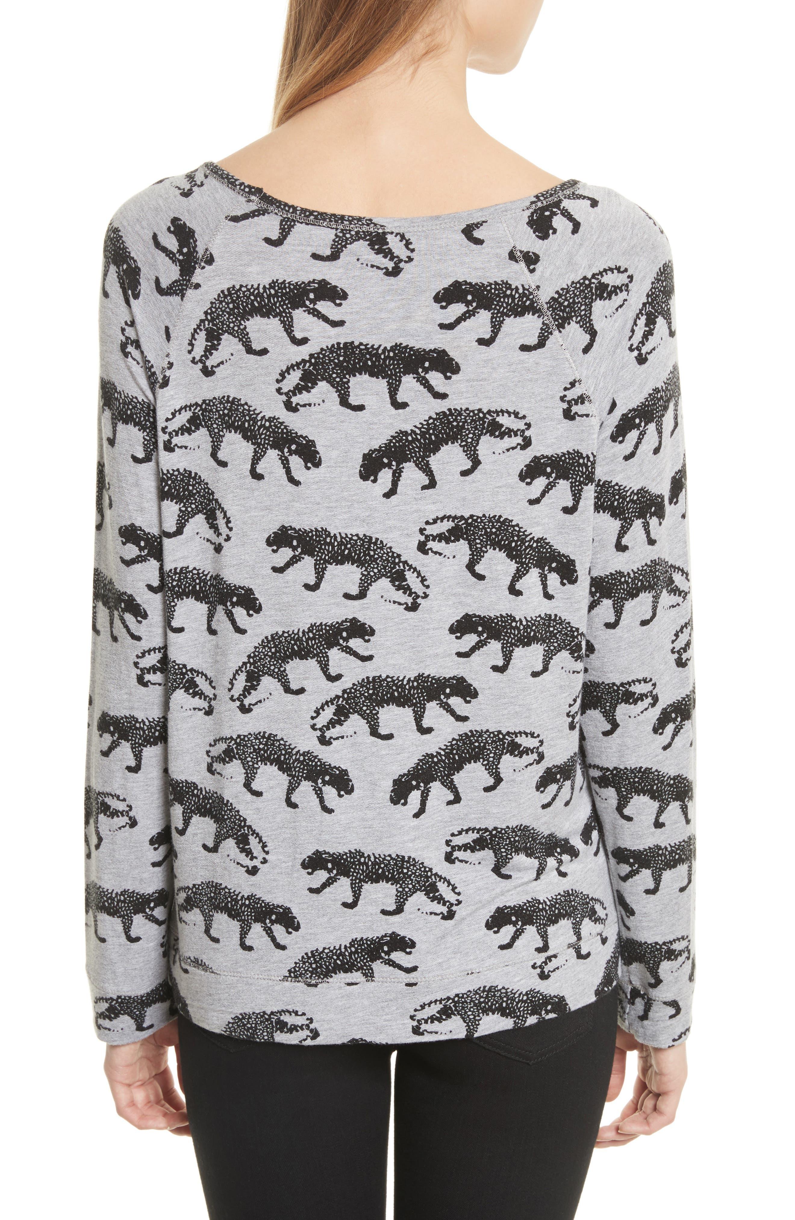 Annora B Animal Print Sweatshirt,                             Alternate thumbnail 2, color,                             033