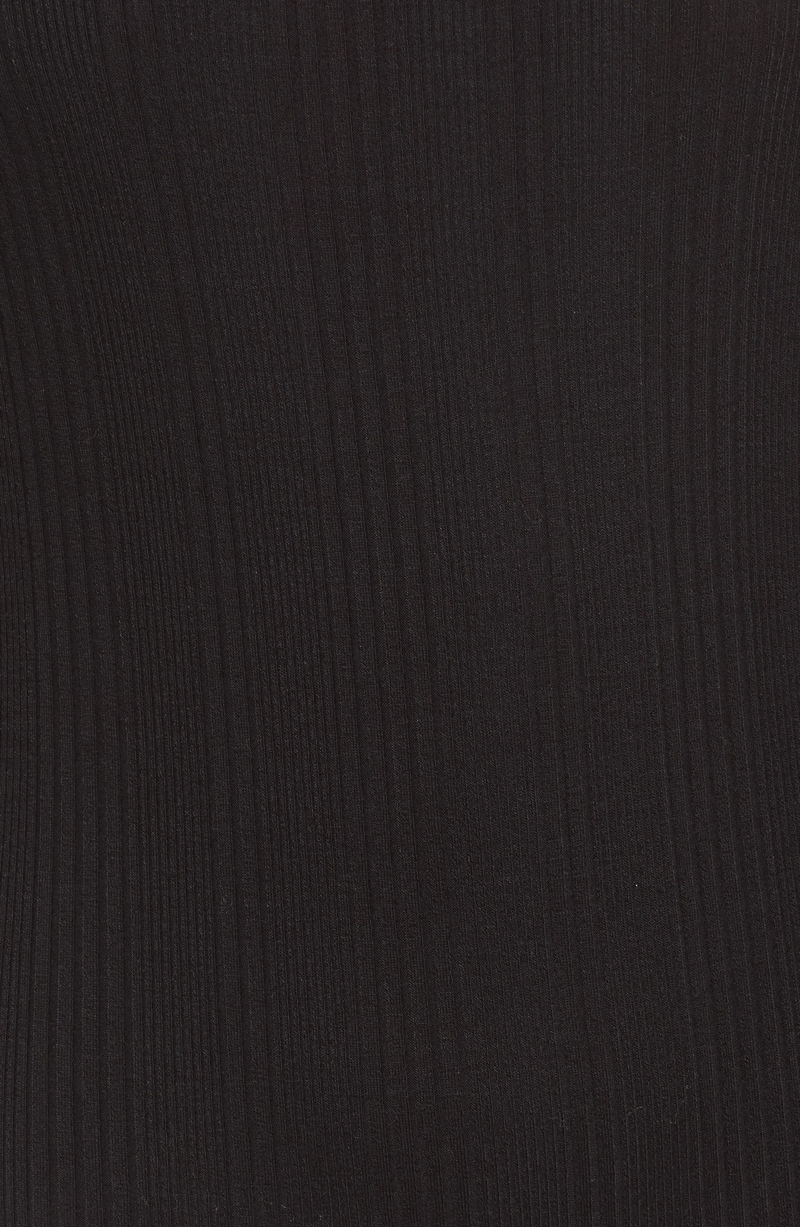 Lace Sleeve Cold Shoulder Bodysuit,                             Alternate thumbnail 5, color,                             001