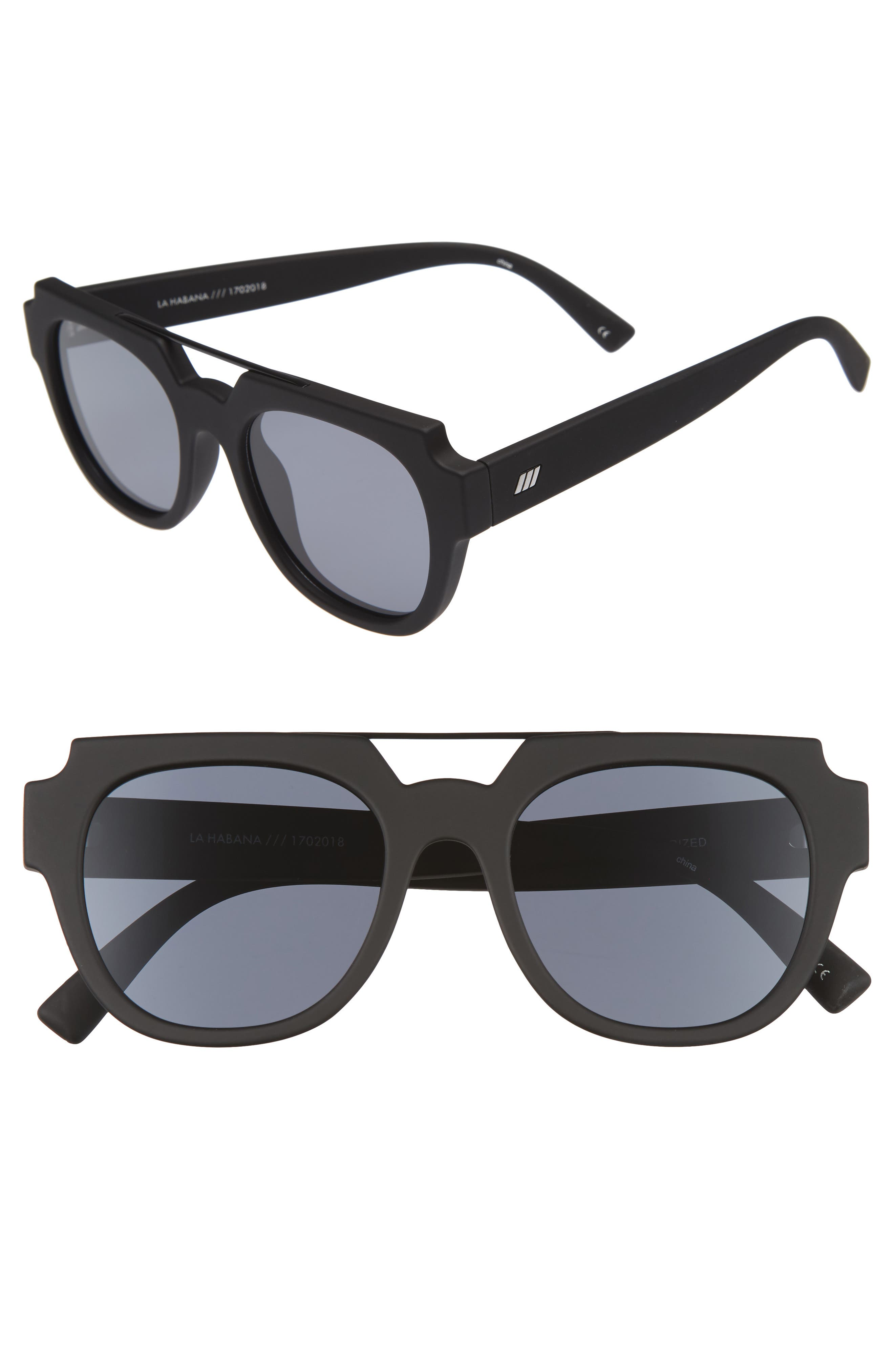 La Habana 52mm Retro Sunglasses,                             Main thumbnail 1, color,                             001