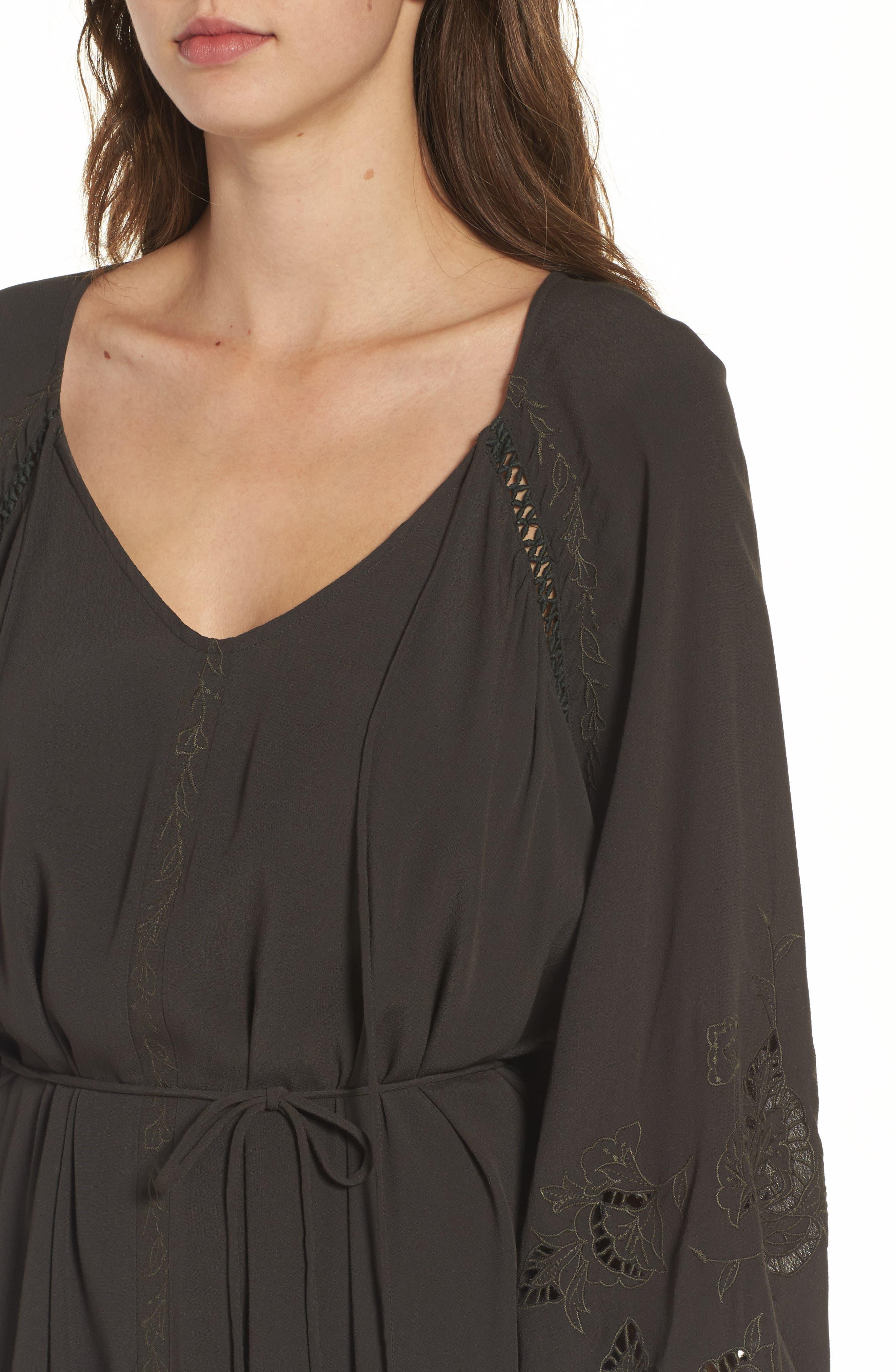 Ava Crochet Detail Dress,                             Alternate thumbnail 4, color,                             021