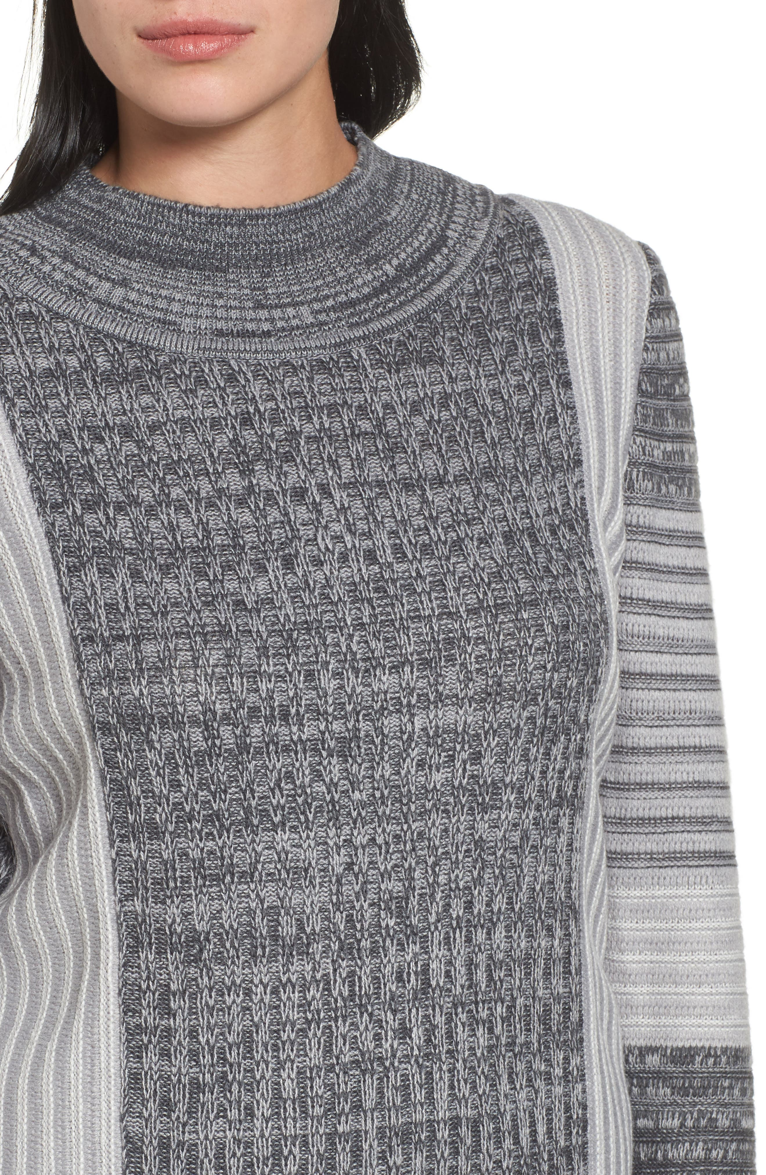 Mixed Knit Tunic Sweater,                             Alternate thumbnail 4, color,                             029