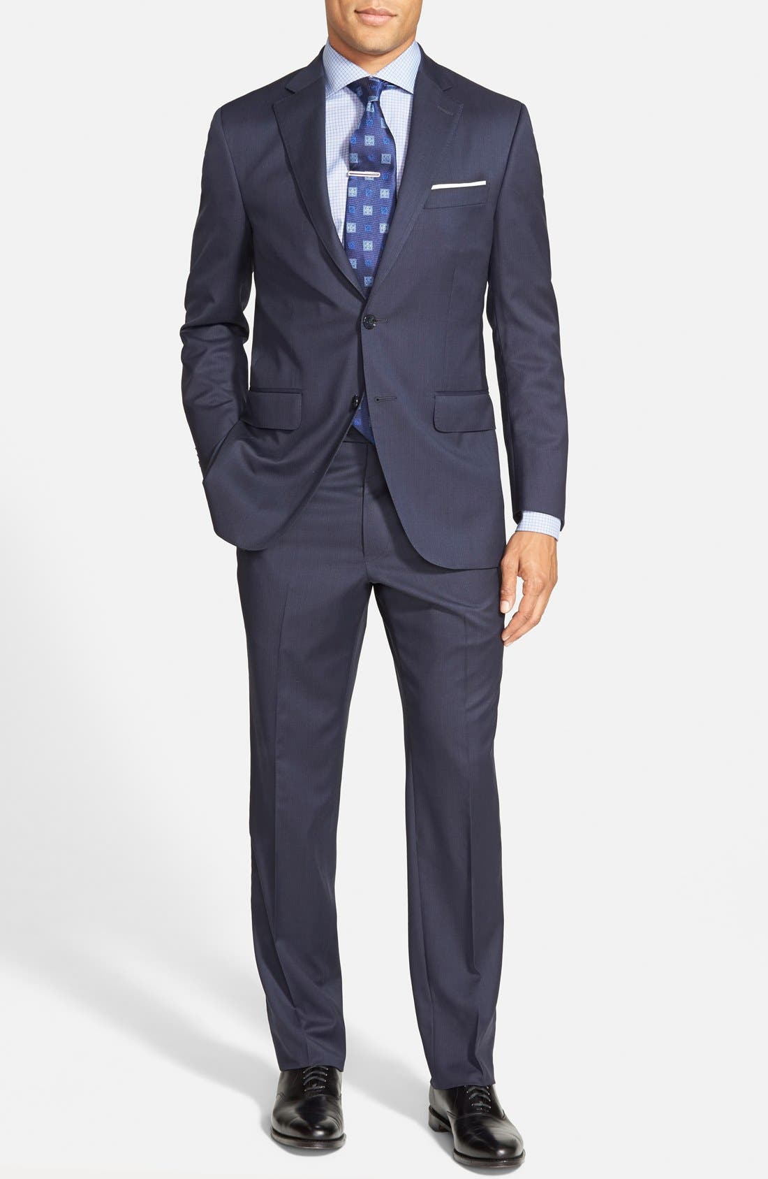 'Flynn' Classic Fit Wool Suit, Main, color, 410
