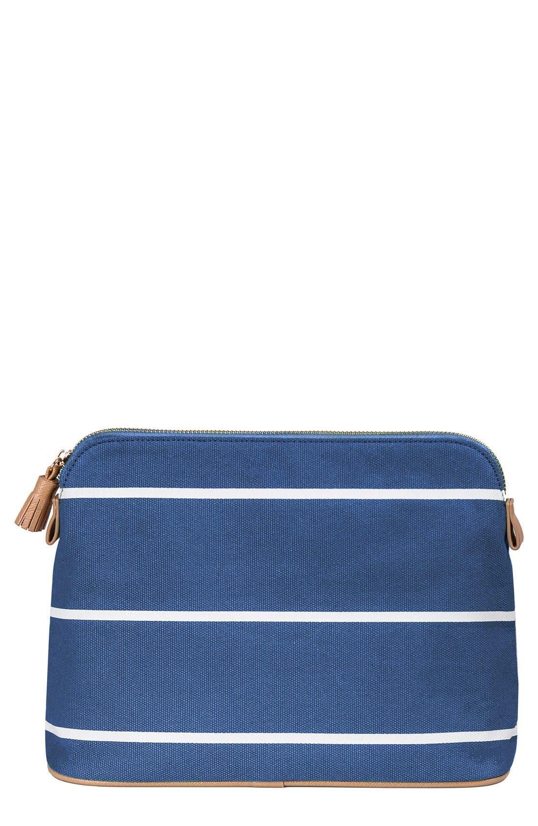 Monogram Cosmetics Bag,                             Main thumbnail 1, color,                             BLUE