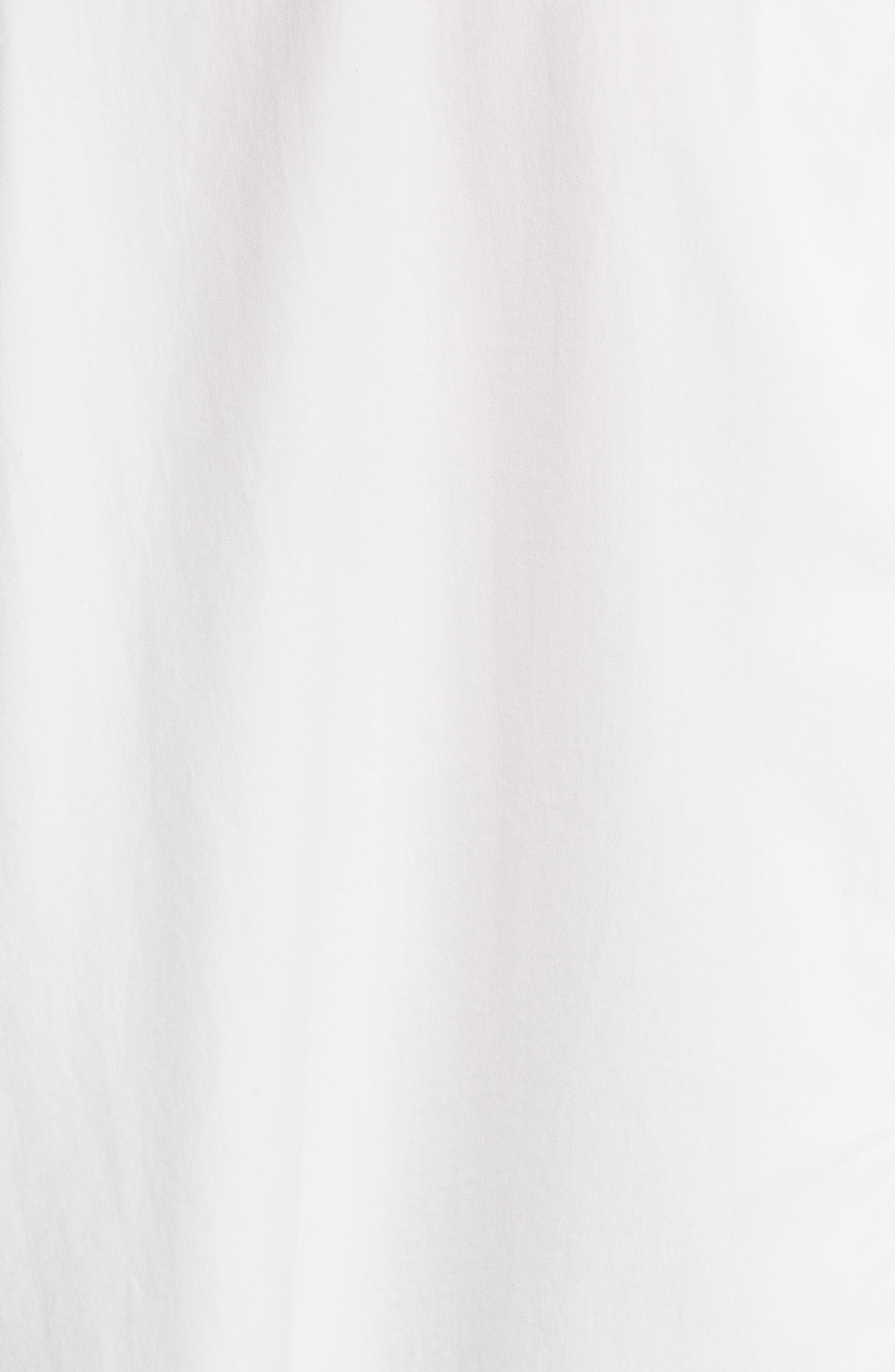 Single Pocket Cotton & Silk Shirt,                             Alternate thumbnail 5, color,                             100