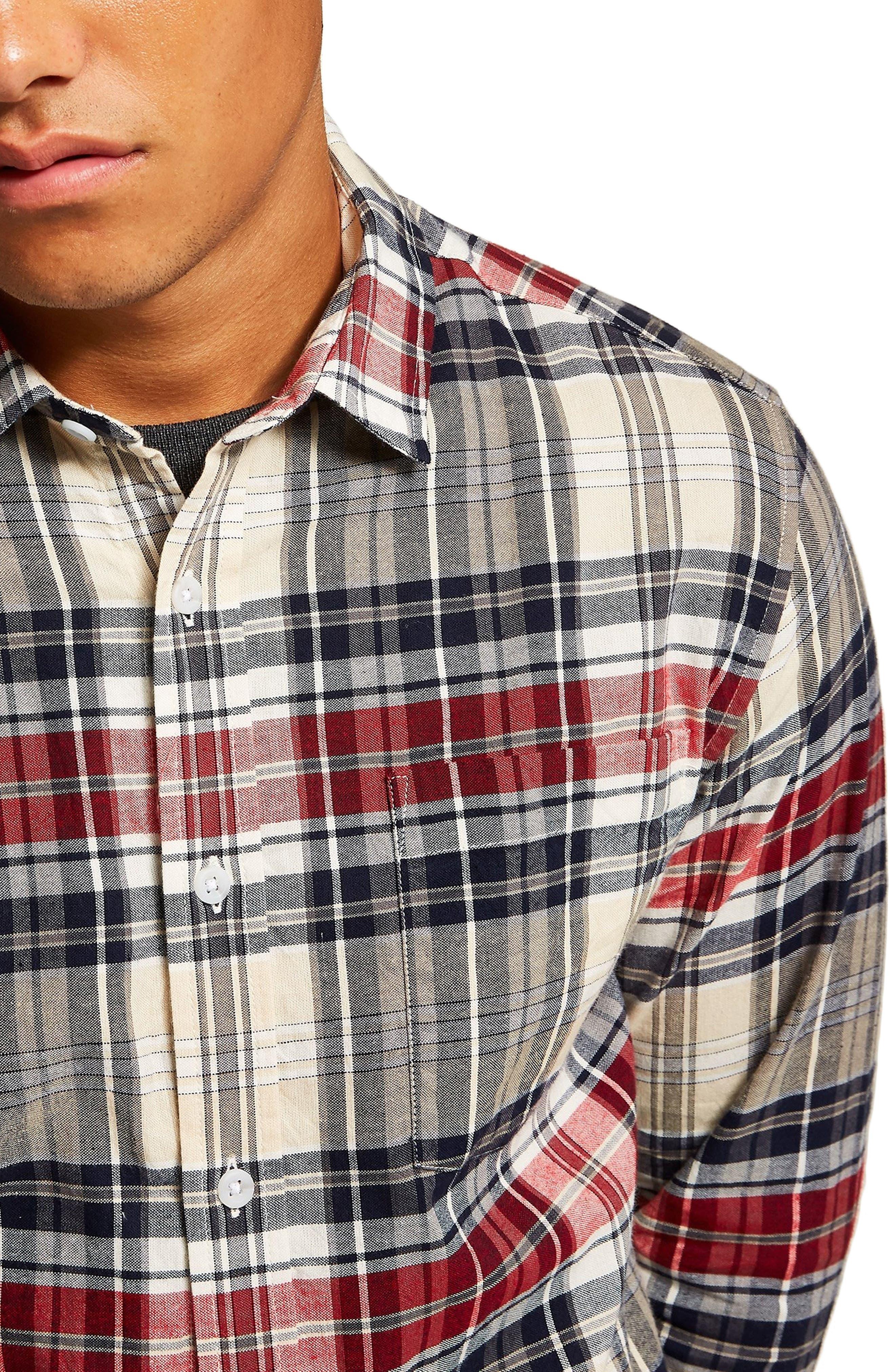 Check Shirt,                             Alternate thumbnail 2, color,                             STONE