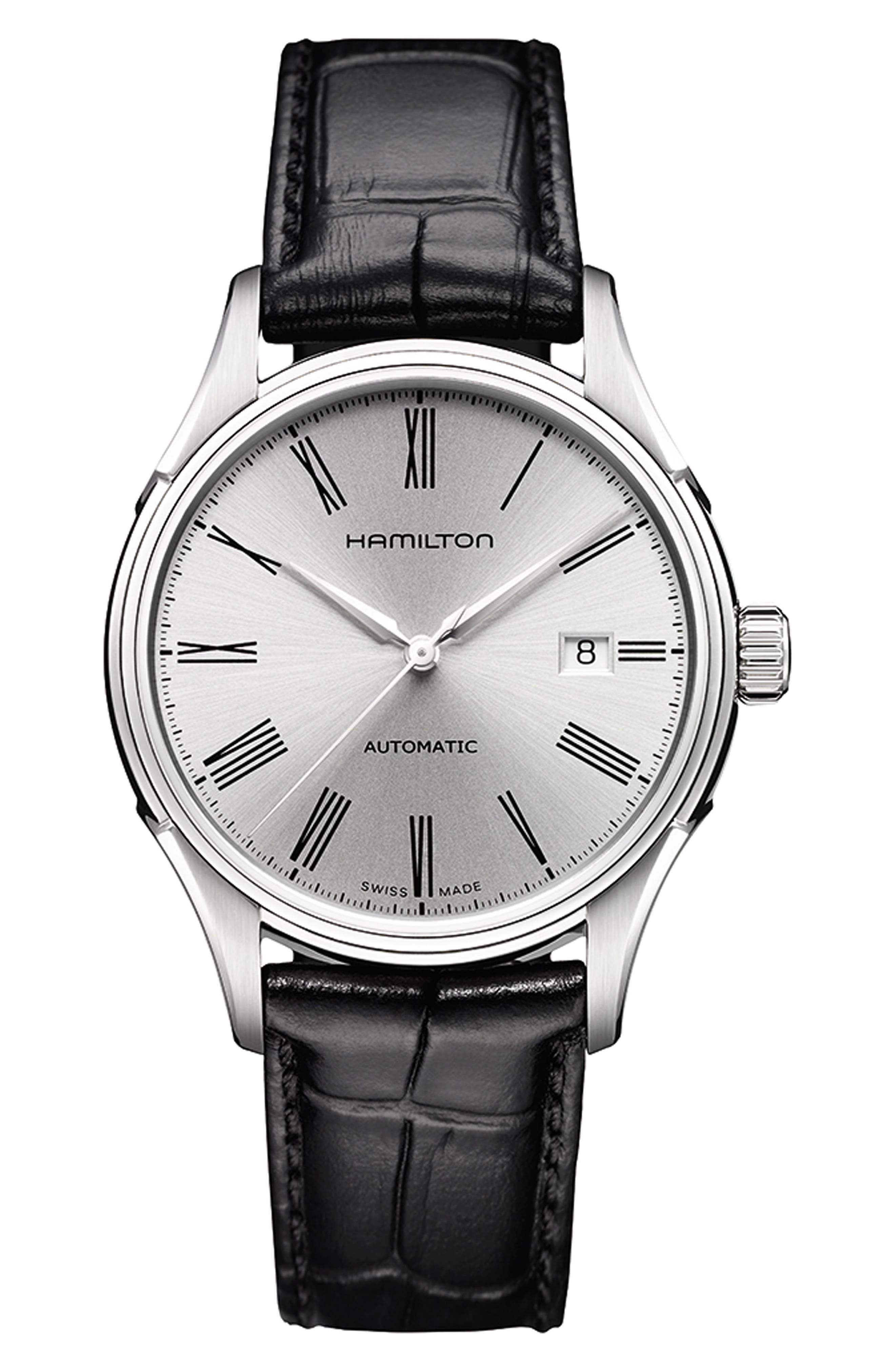 Jazzmaster Gent Open Heart Automatic Bracelet Watch, 42mm, Main, color, SILVER/ BLUE/ SILVER