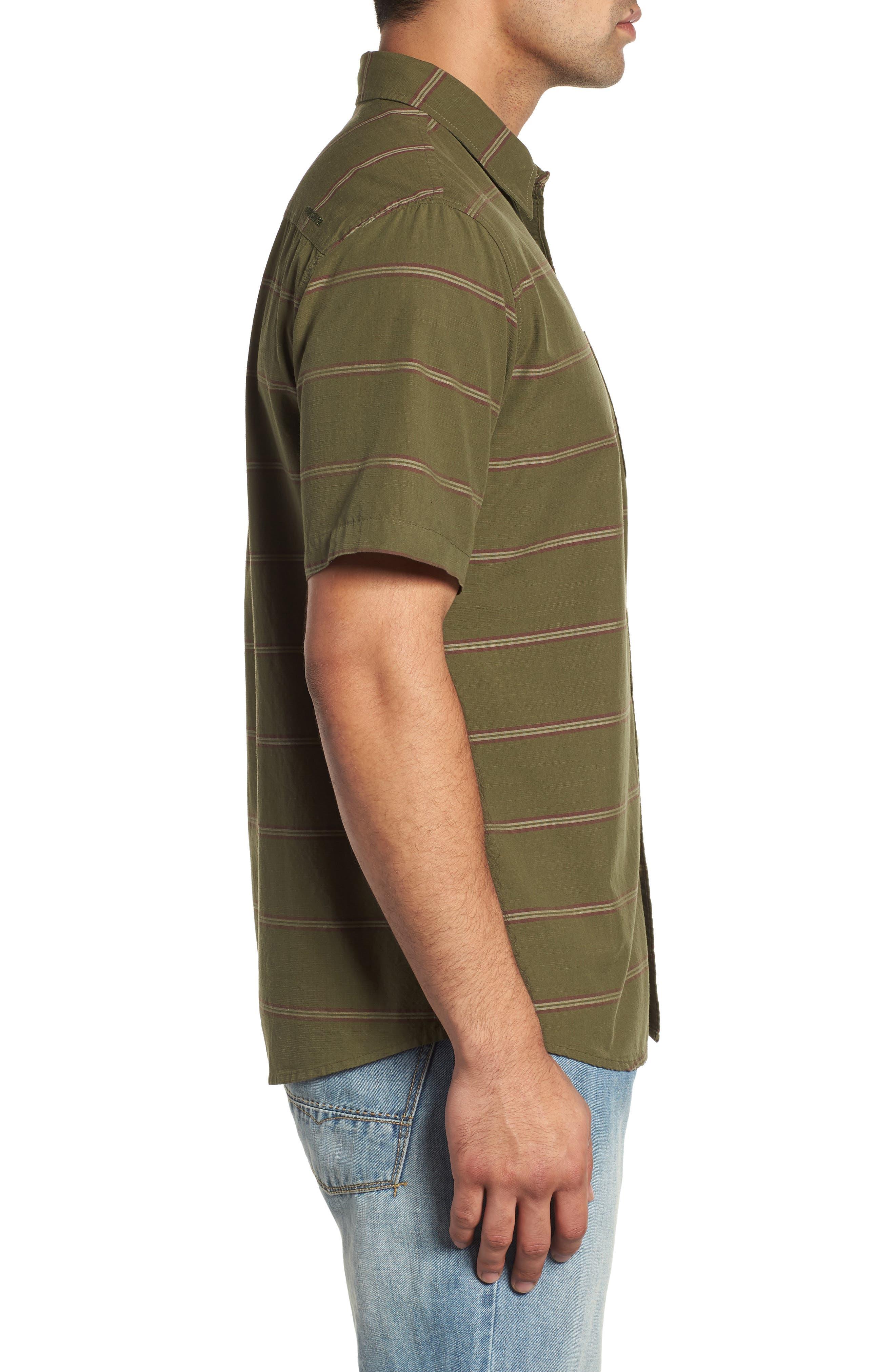 Last Dawn Regular Fit Stripe Sport Shirt,                             Alternate thumbnail 4, color,                             300