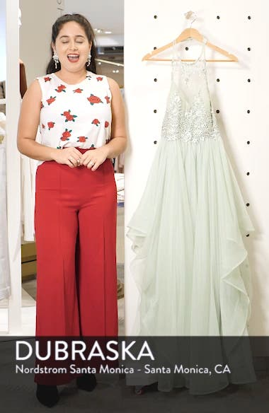 Embroidered Halter Gown, sales video thumbnail