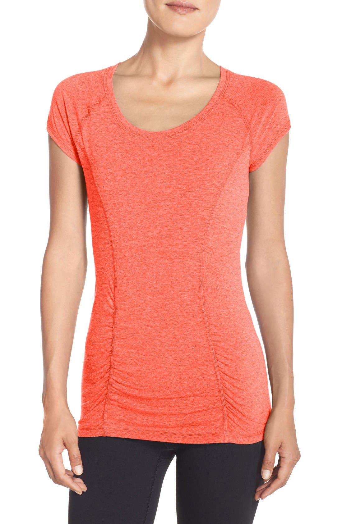 'Z 6' Ruched Tee,                             Main thumbnail 19, color,
