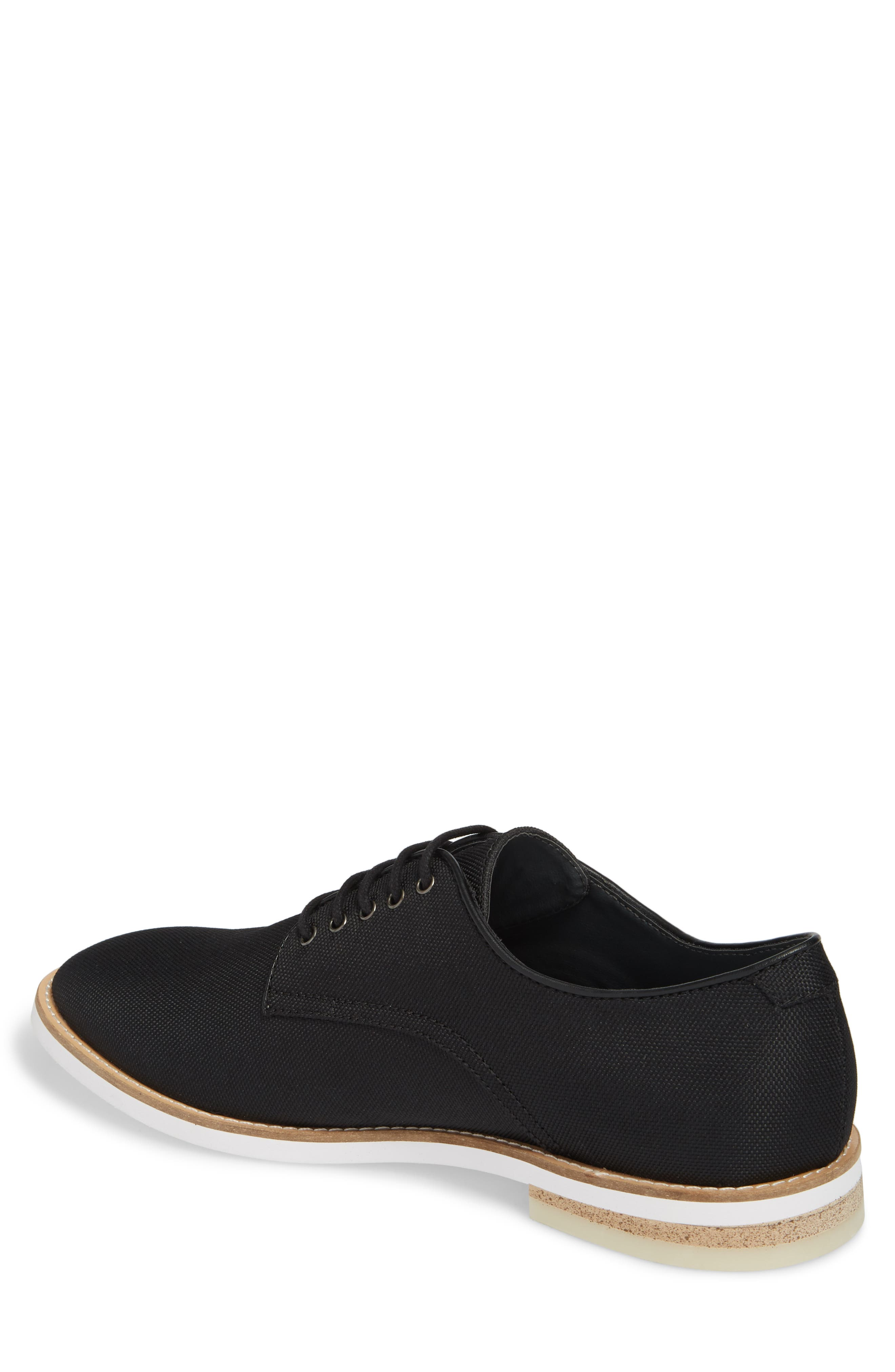 Atlee Plain Toe Derby,                             Alternate thumbnail 2, color,                             BLACK SYNTHETIC