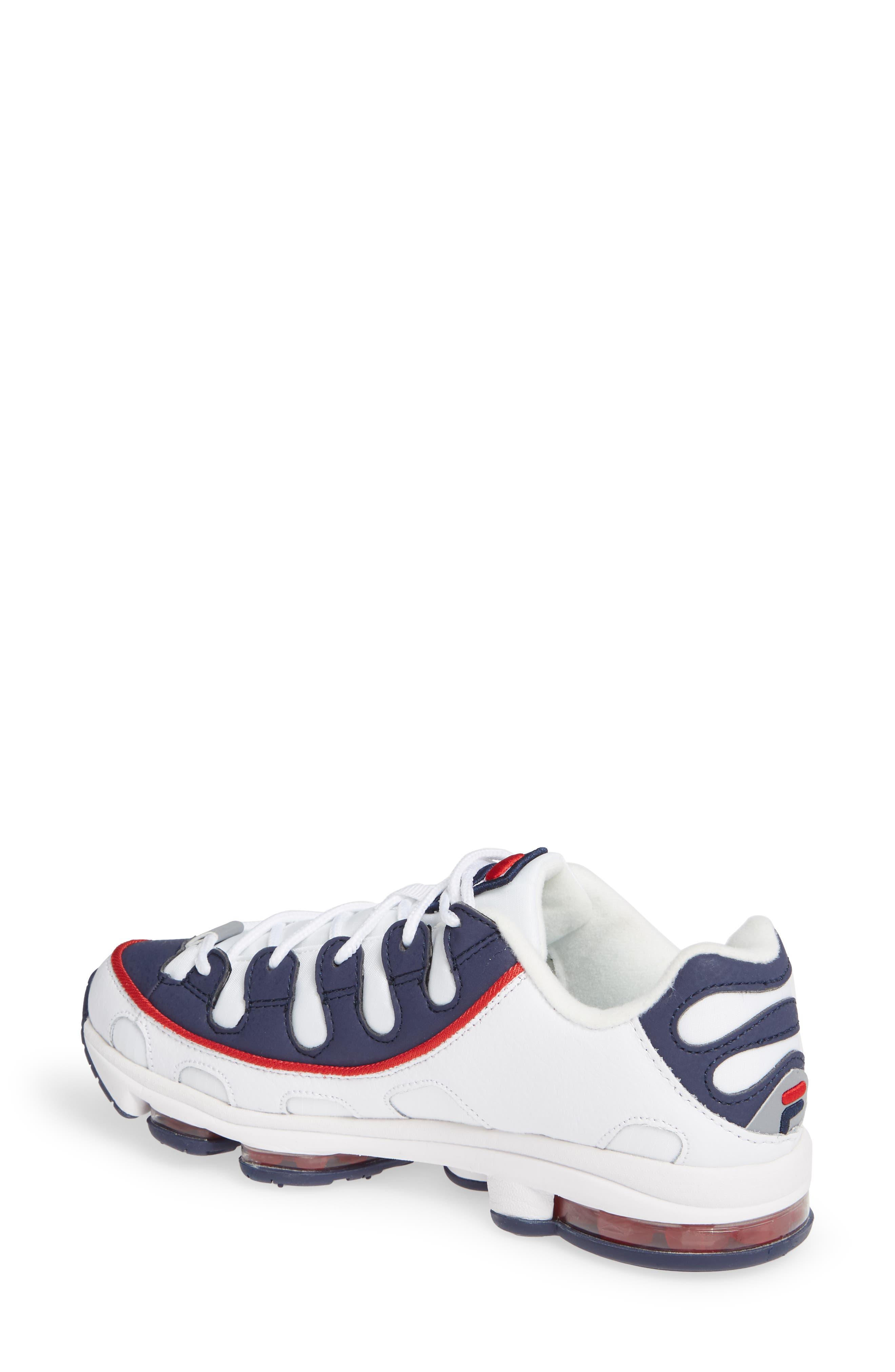 Silva Trainer Sneaker,                             Alternate thumbnail 2, color,                             WHITE/ NAVY/ RED