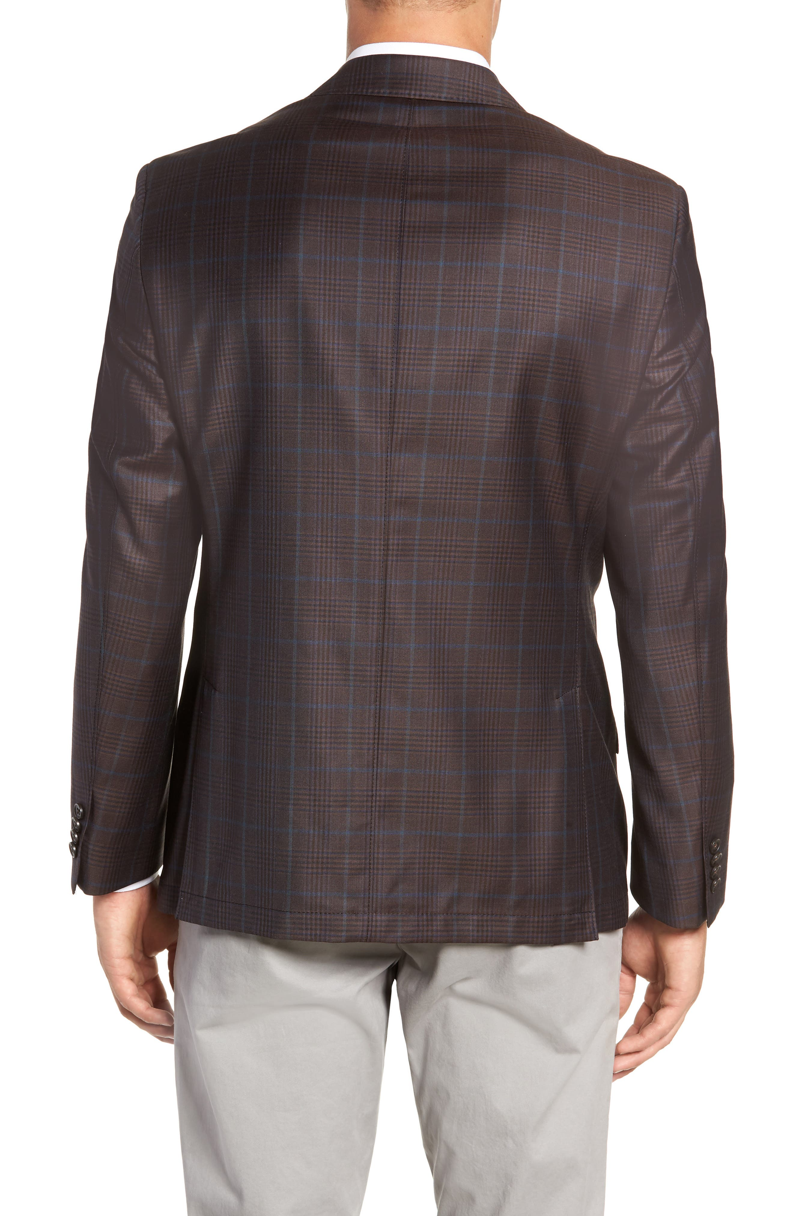 Regular Fit Super 130's Wool Blazer,                             Alternate thumbnail 2, color,                             BROWN