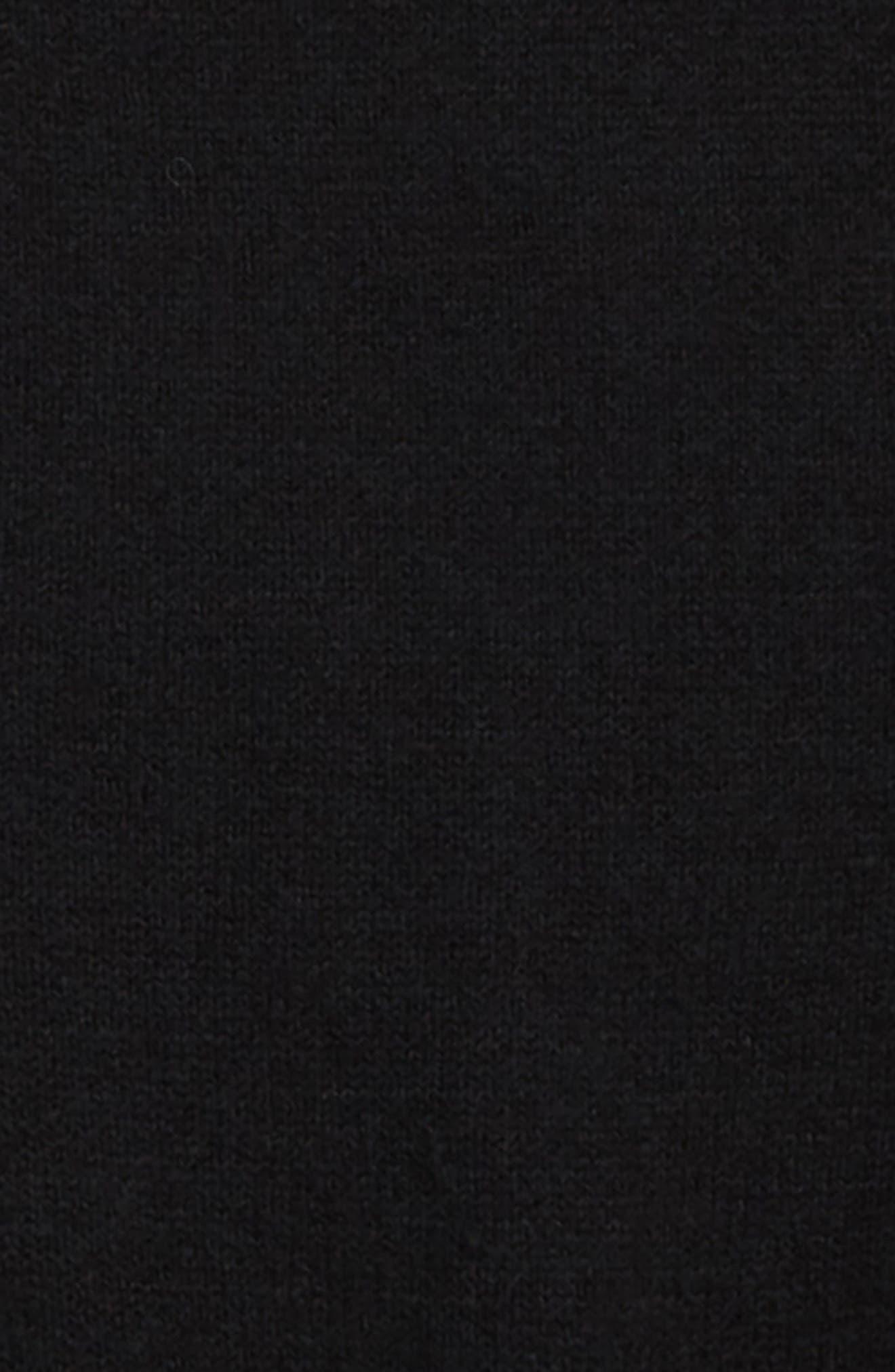 Oversize Cold Shoulder Sweater,                             Alternate thumbnail 2, color,                             BLACK